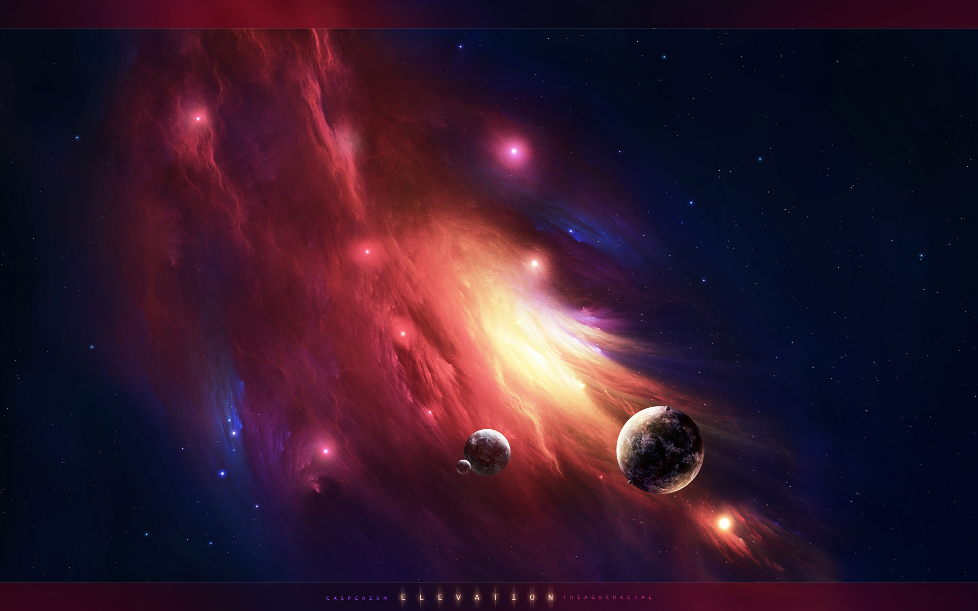Free Wallpapers – crasy nebula and small comets wallpaper