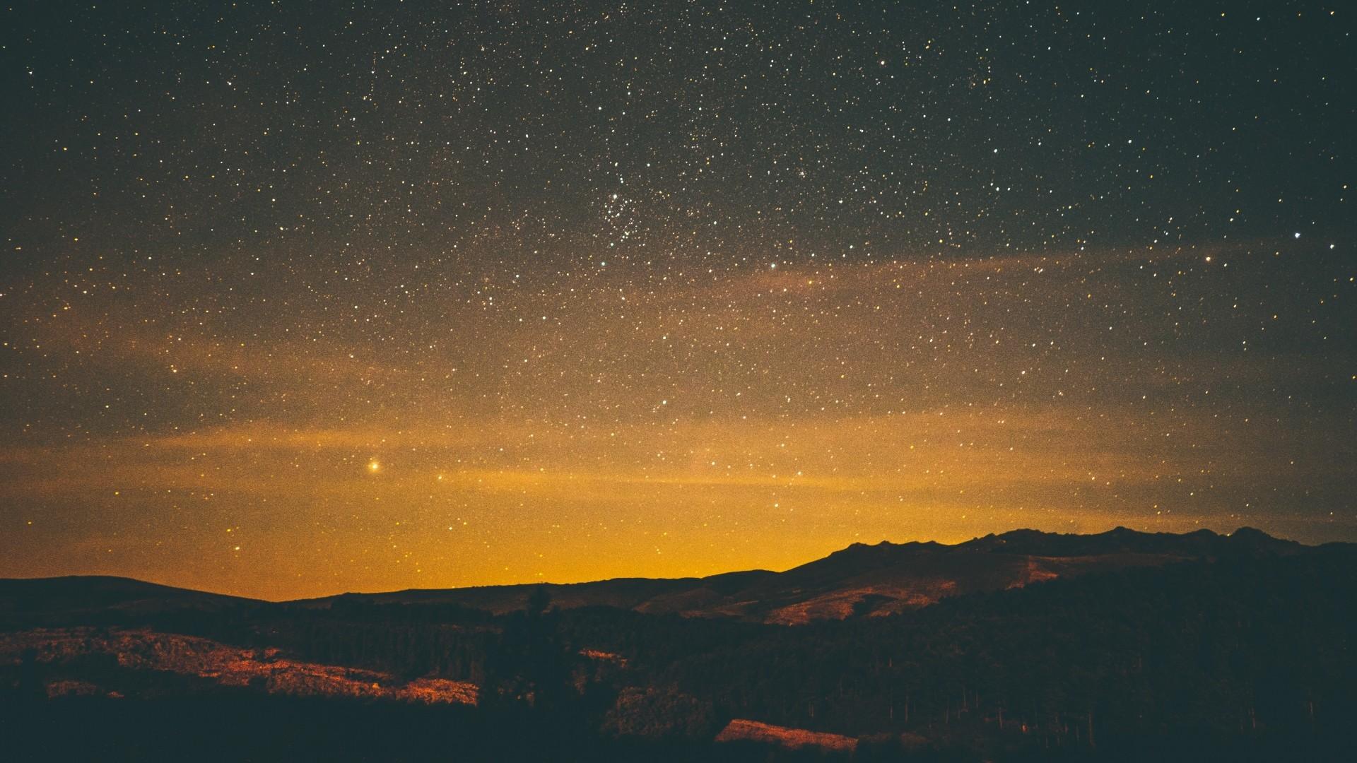 Preview wallpaper stars, night, sky 1920×1080