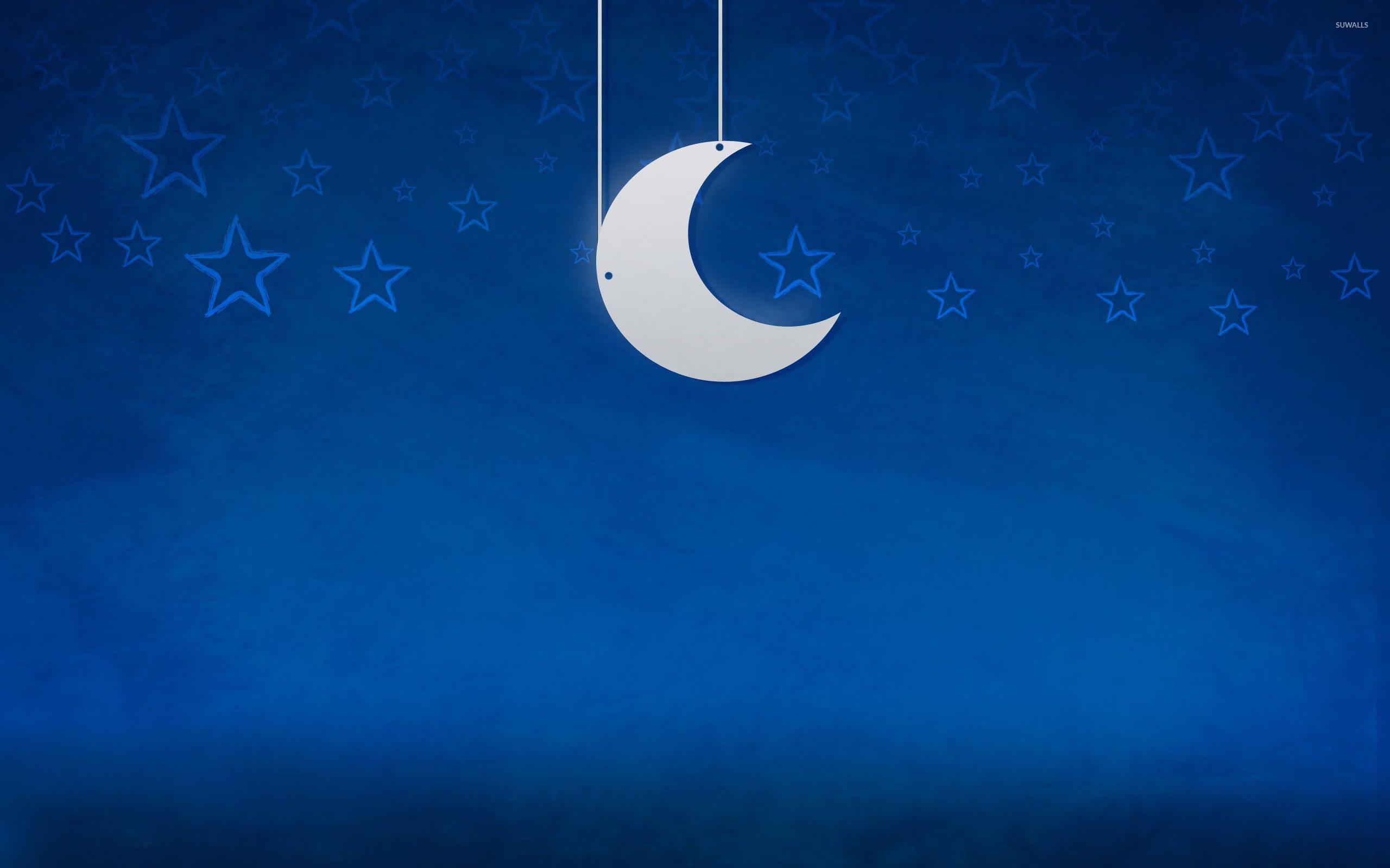 Full Moon And Stars Wallpaper Moon And Stars Wallpaper