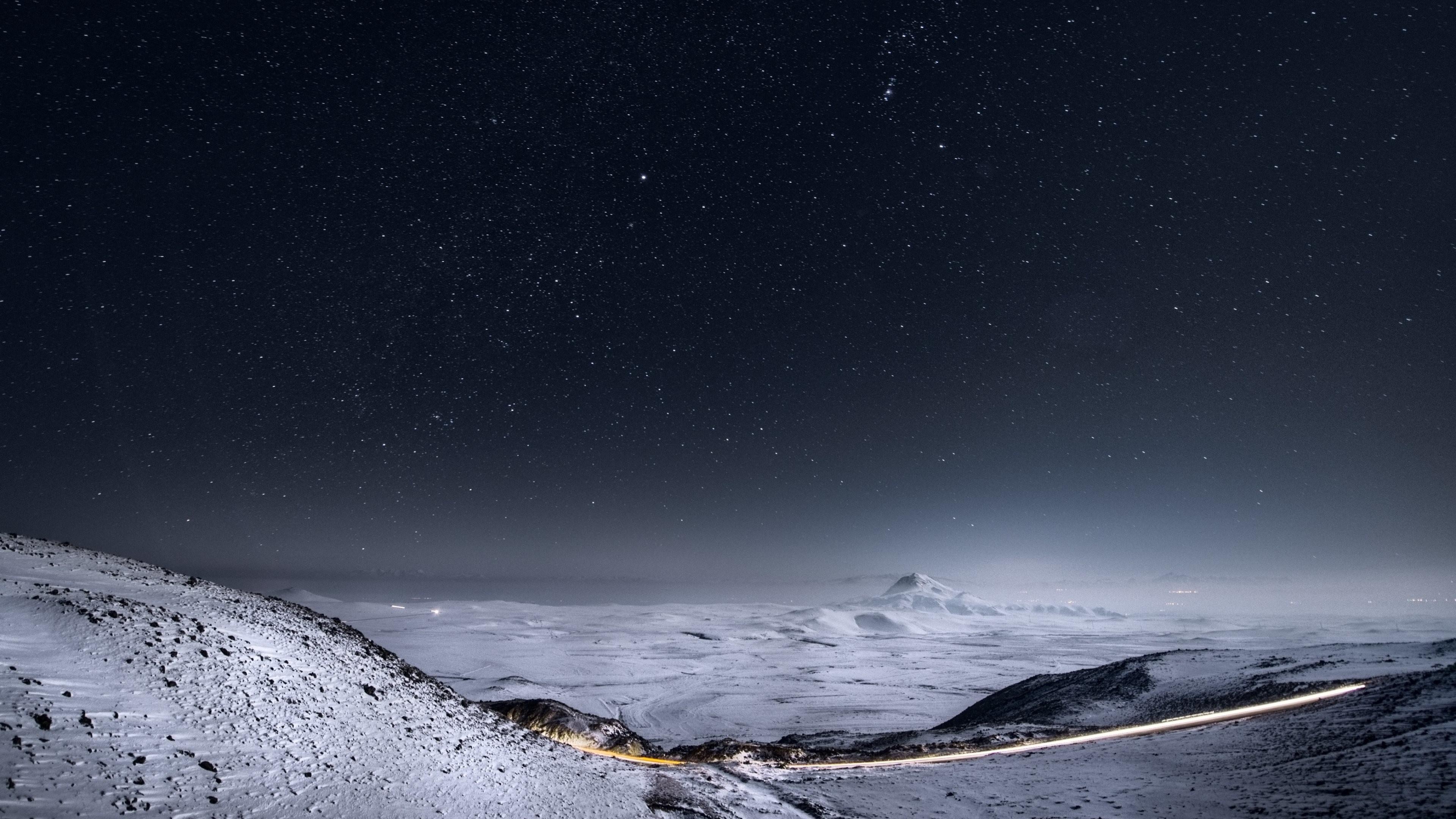 Wallpaper: Clear Night Sky Full of Stars. Ultra HD 4K 3840×2160