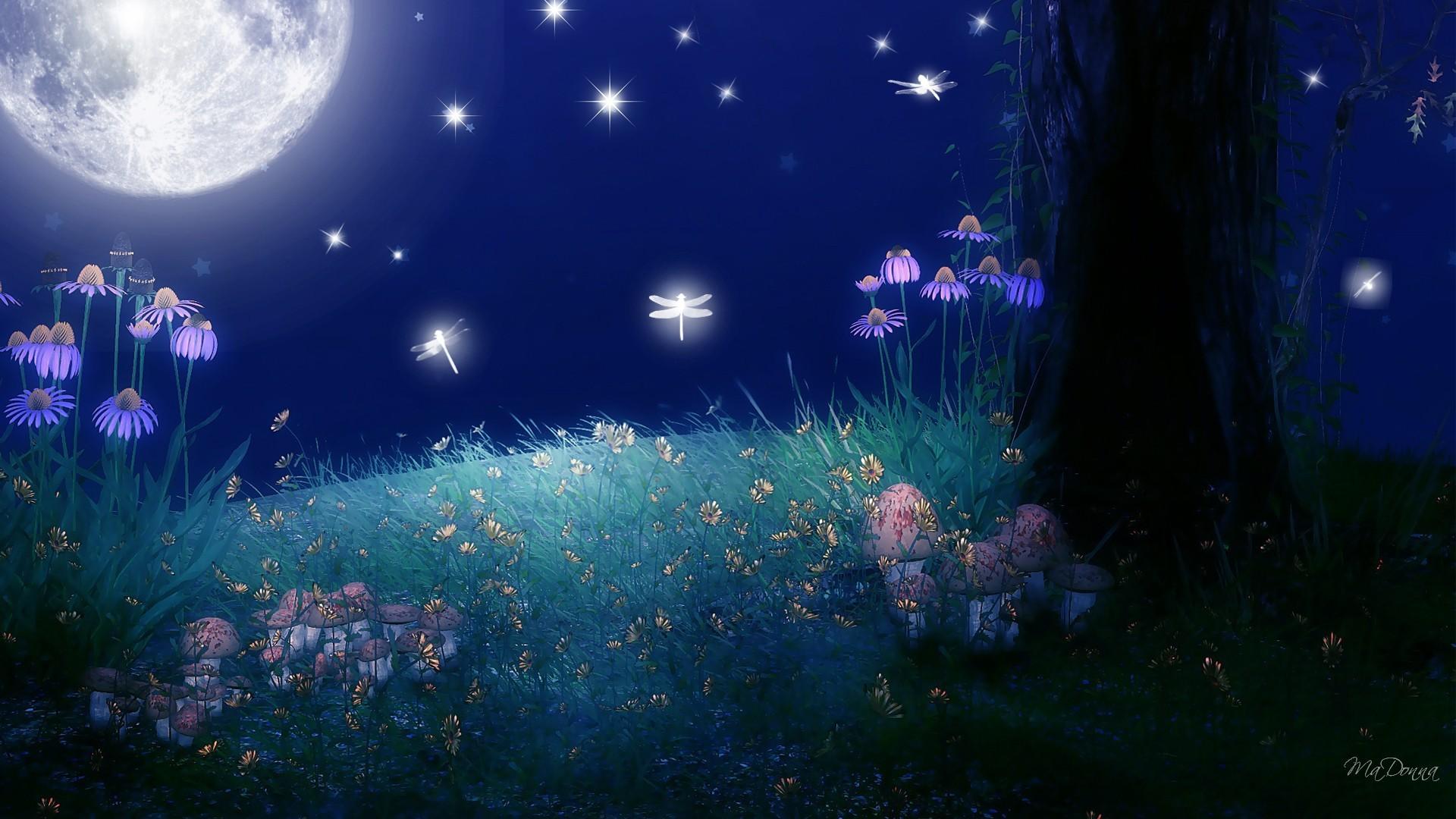 free hd full moon stars wallpapers download