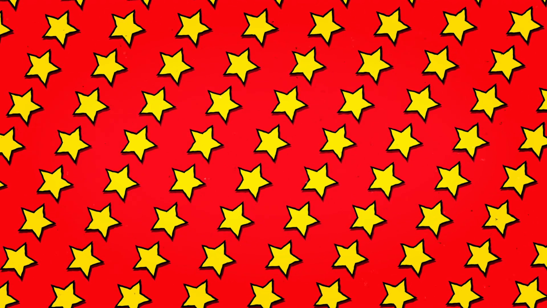 Yellow Stars Red Background Animation Seamless Looped Texture Motion  Background – VideoBlocks