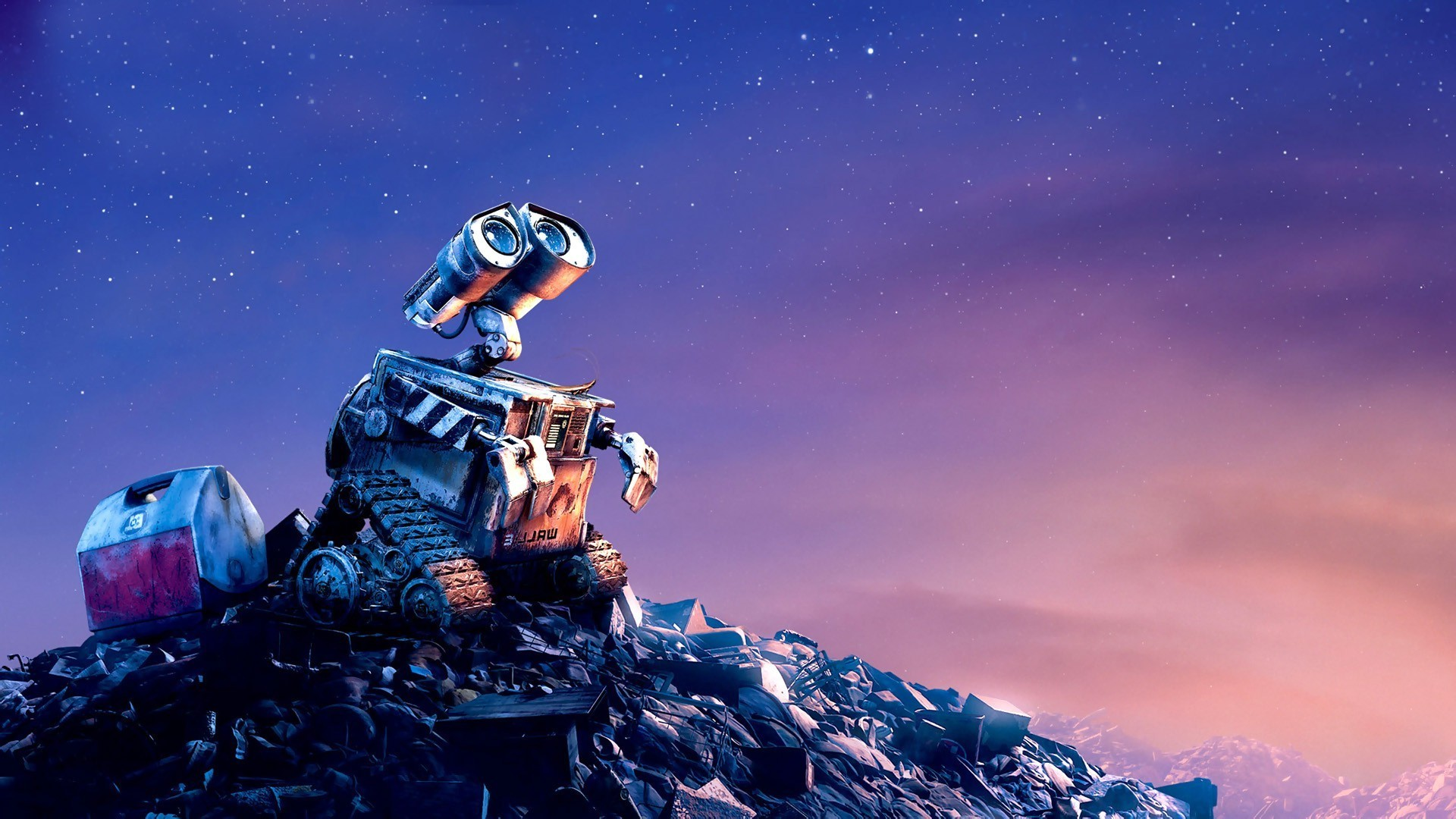 WALL·E, Pixar Animation Studios, Movies, Stars, Sky, Space, Robot Wallpapers  HD / Desktop and Mobile Backgrounds