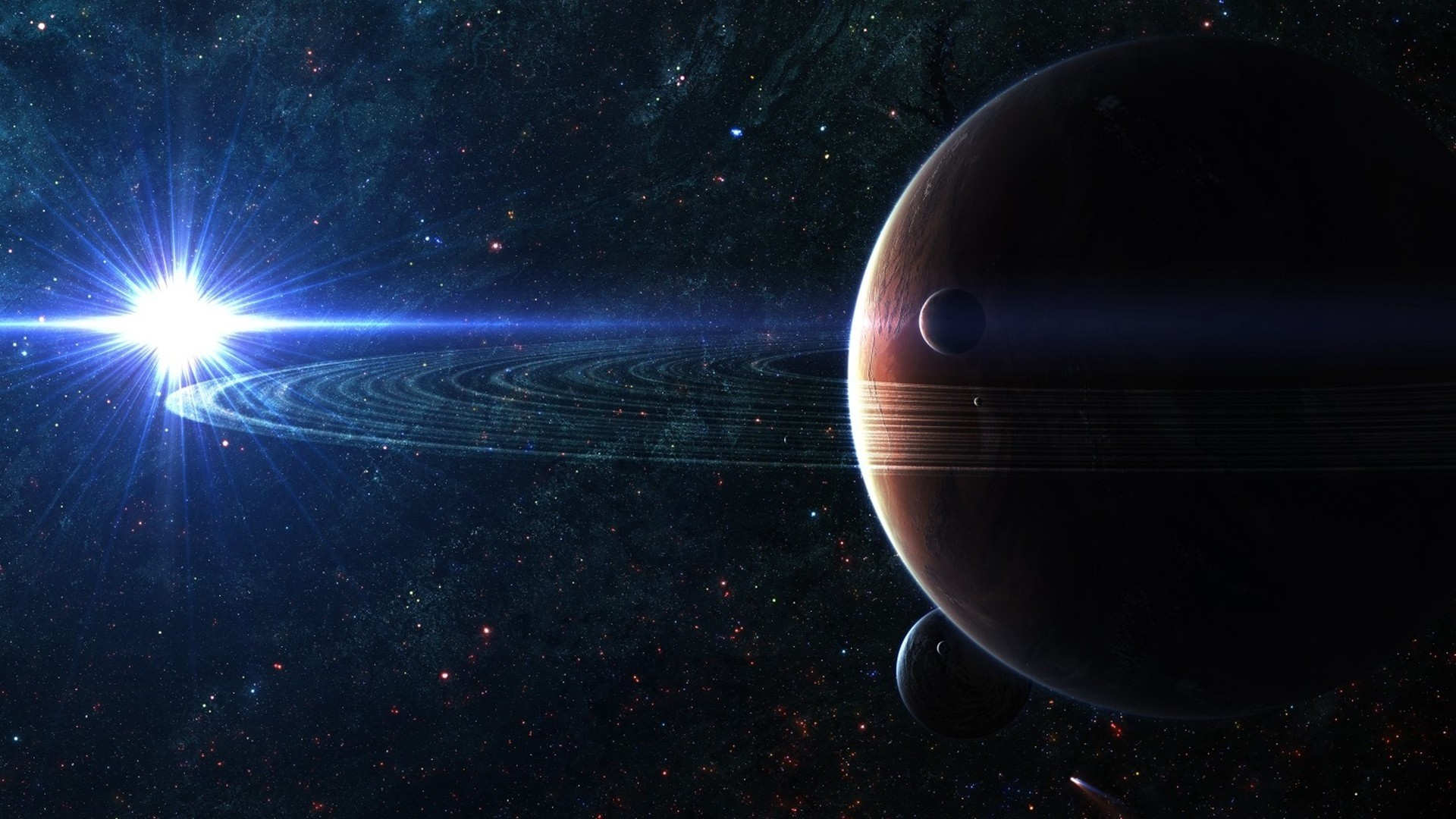 Preview wallpaper space, planet, sky 1920×1080