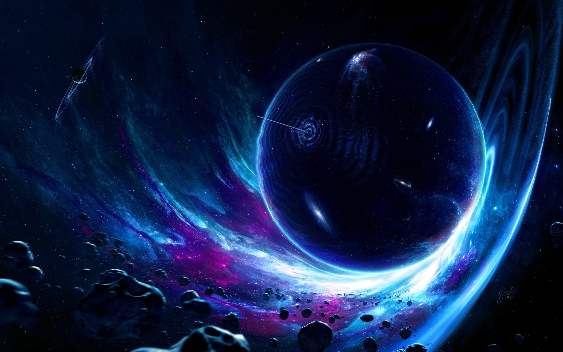 Wormhole Space Planet Wallpaper