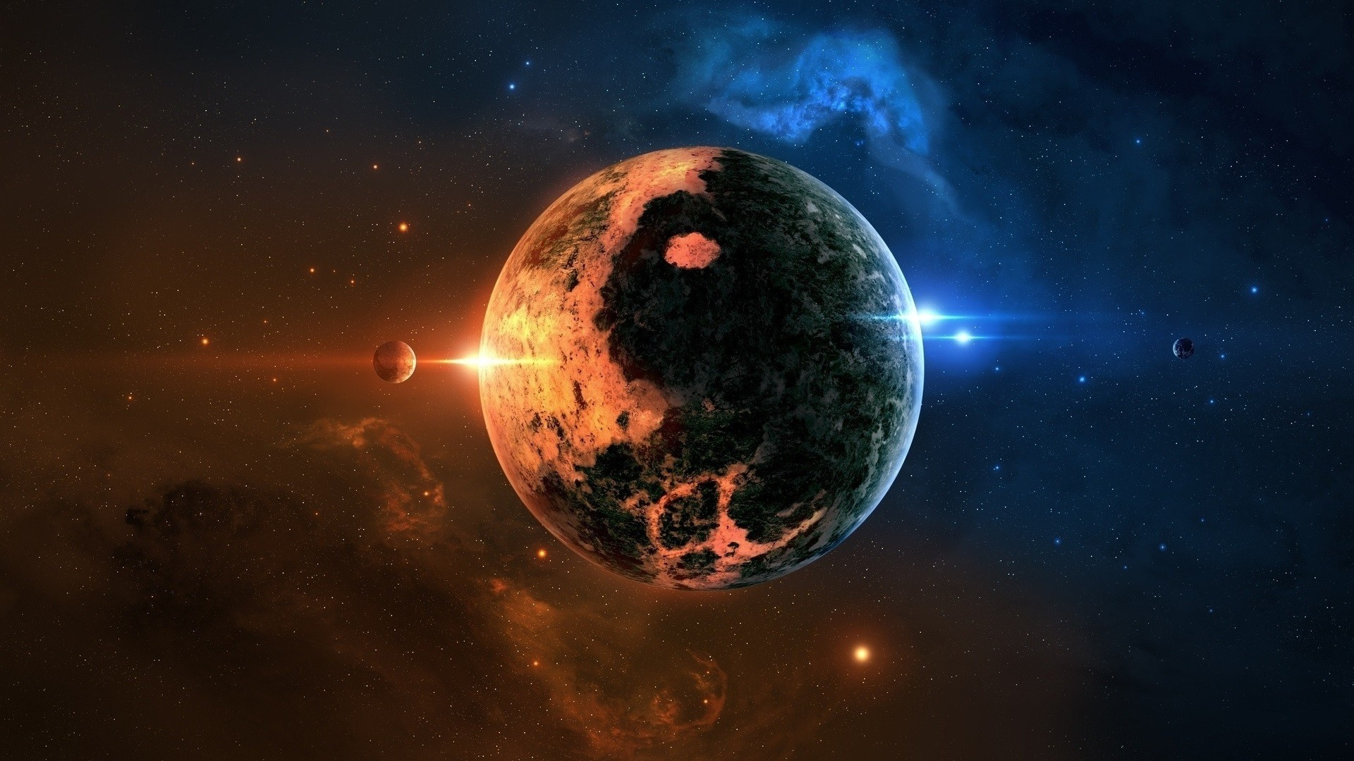 awesome space planet background Check more at https://www.finewallpapers.eu