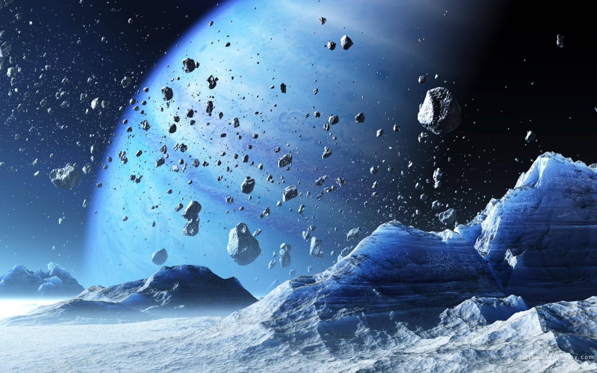 rock planet blue space