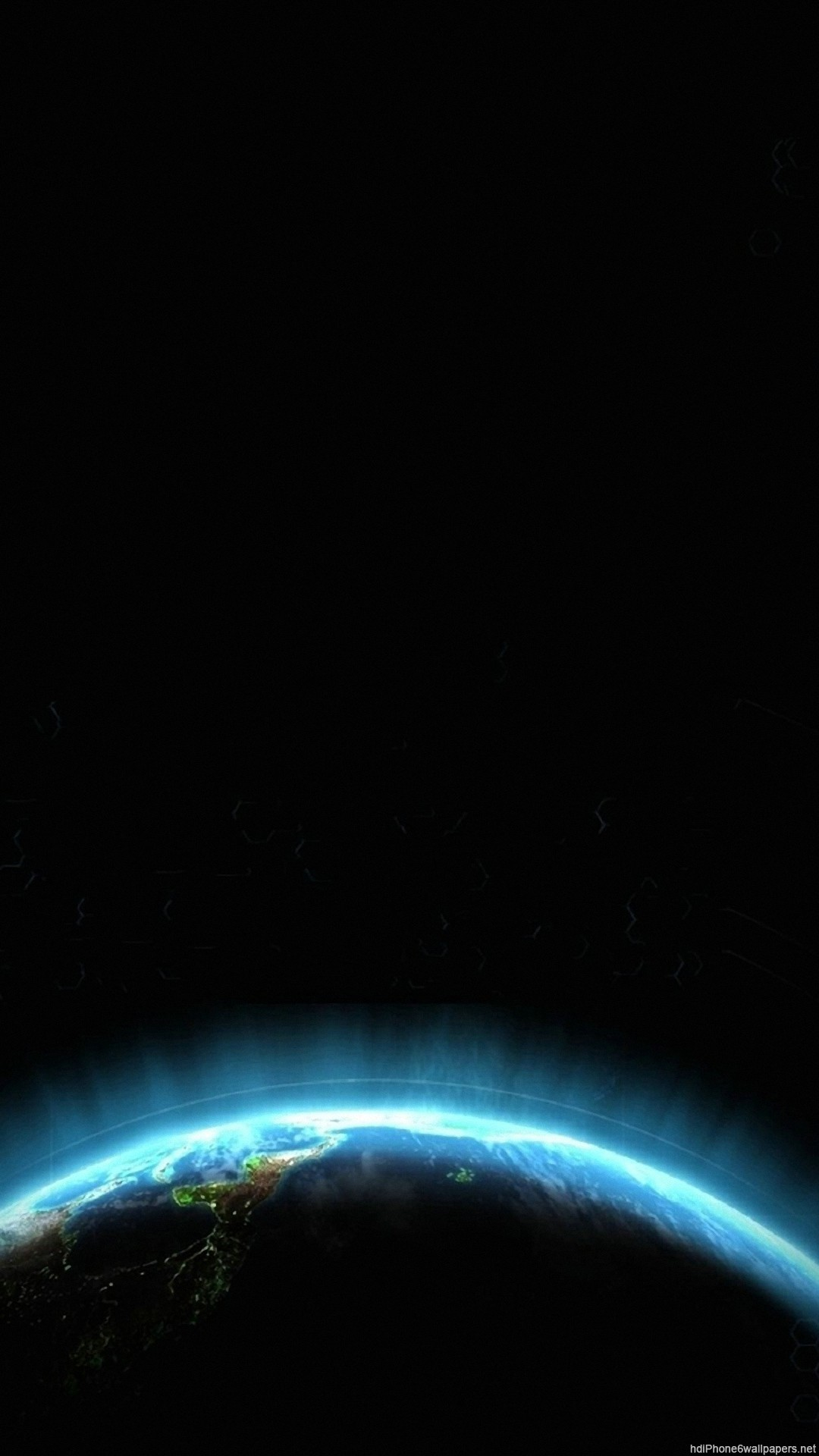 circle space planet blue iPhone 6 wallpapers HD – 6 Plus  backgrounds