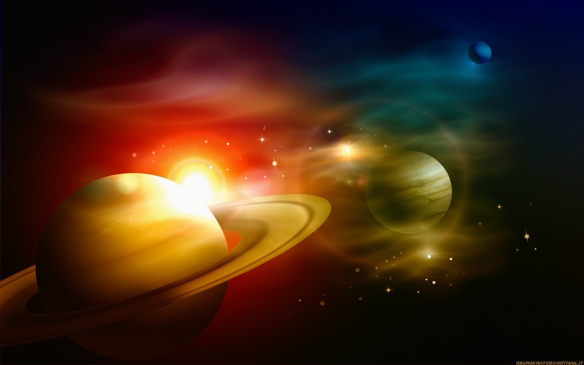 Space star sun pixel wallpaper solar planets wallpapers parallel system  large
