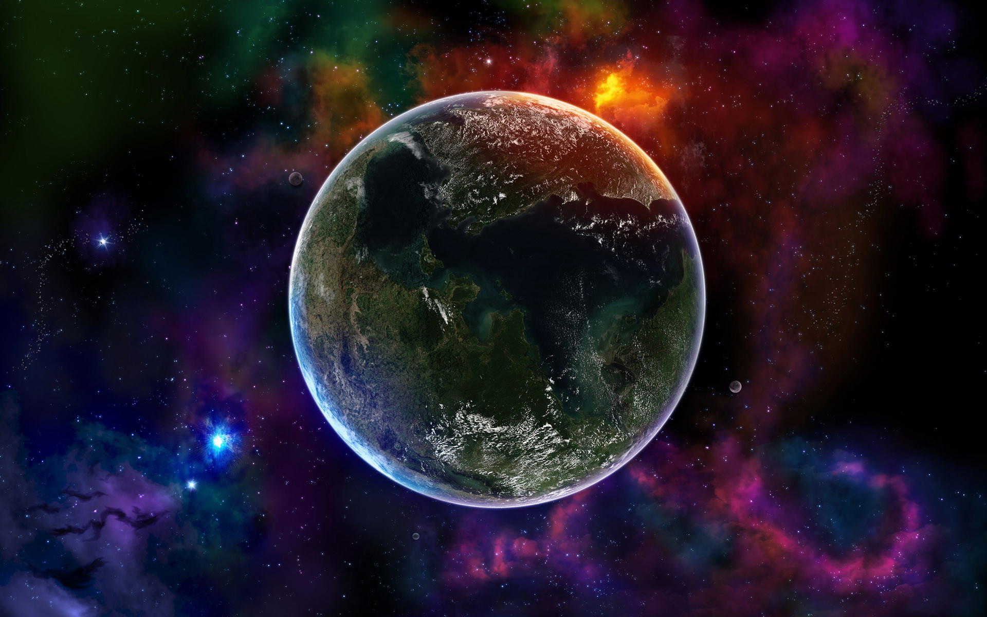 Cool 3D Desktop   small planet in the vast space wallpapers and images –  wallpapers .