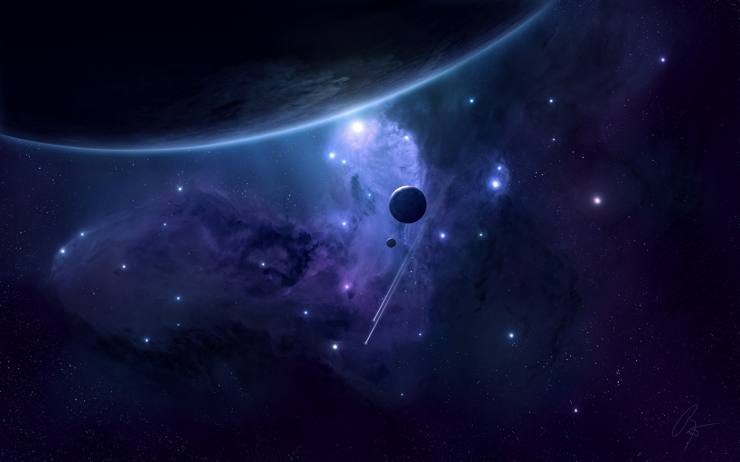 Planets and Stars Space Wallpaper