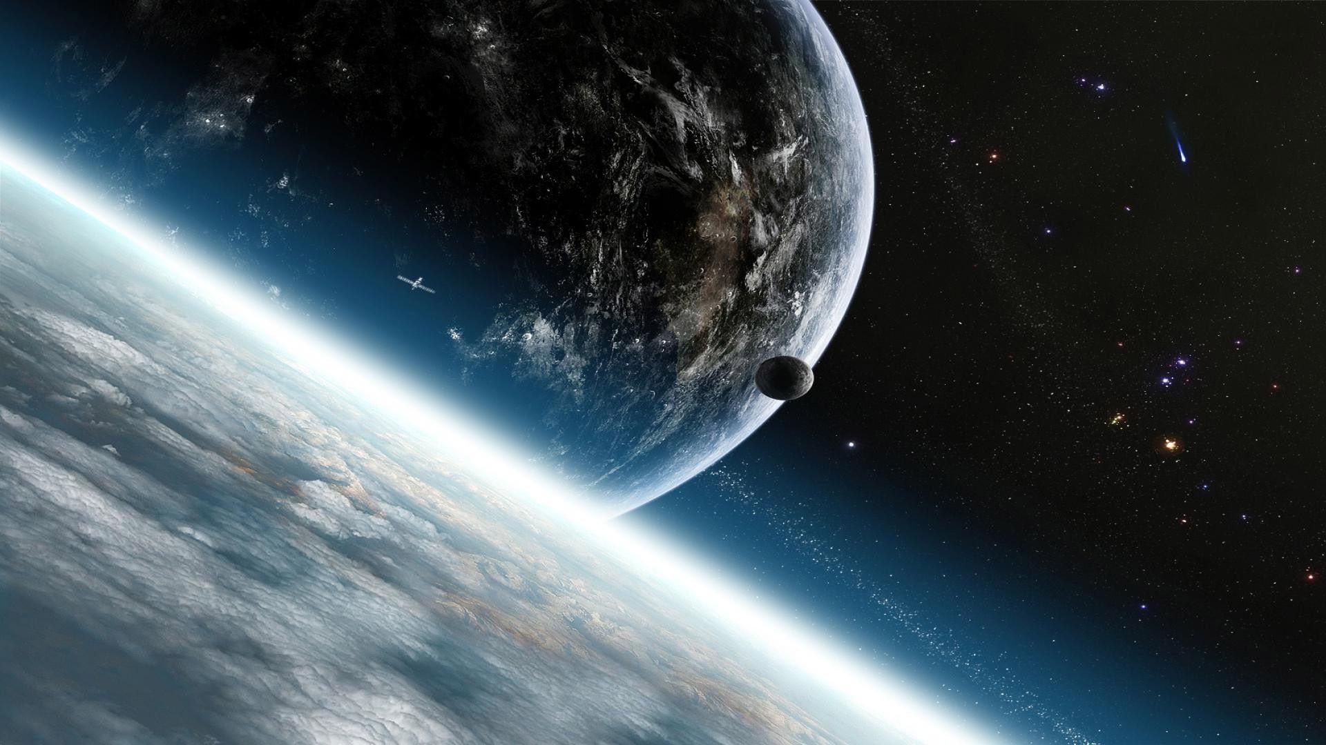 Dark Planet Space Image.