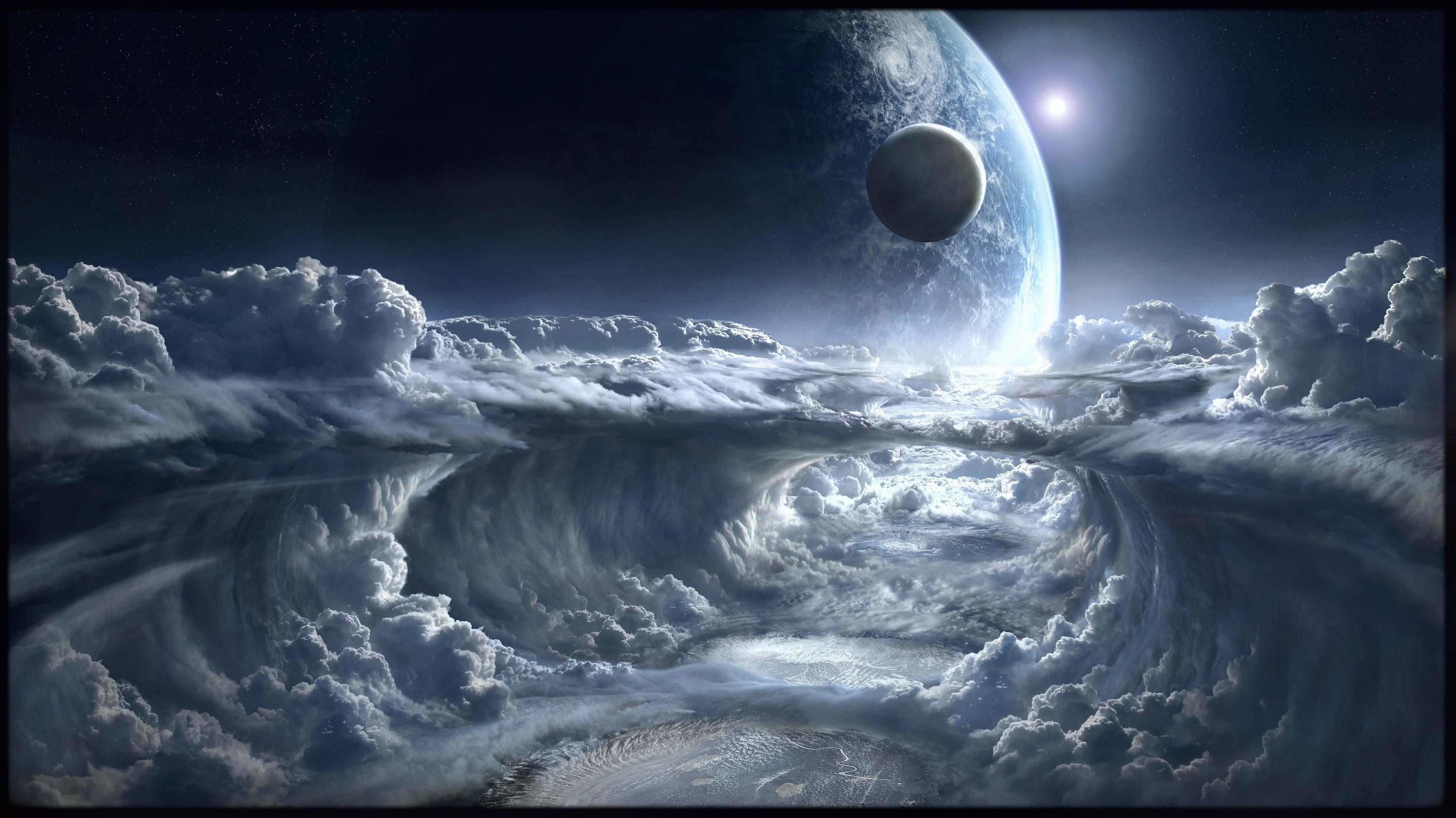 Download Wallpaper · cloudsscifi- planetspace