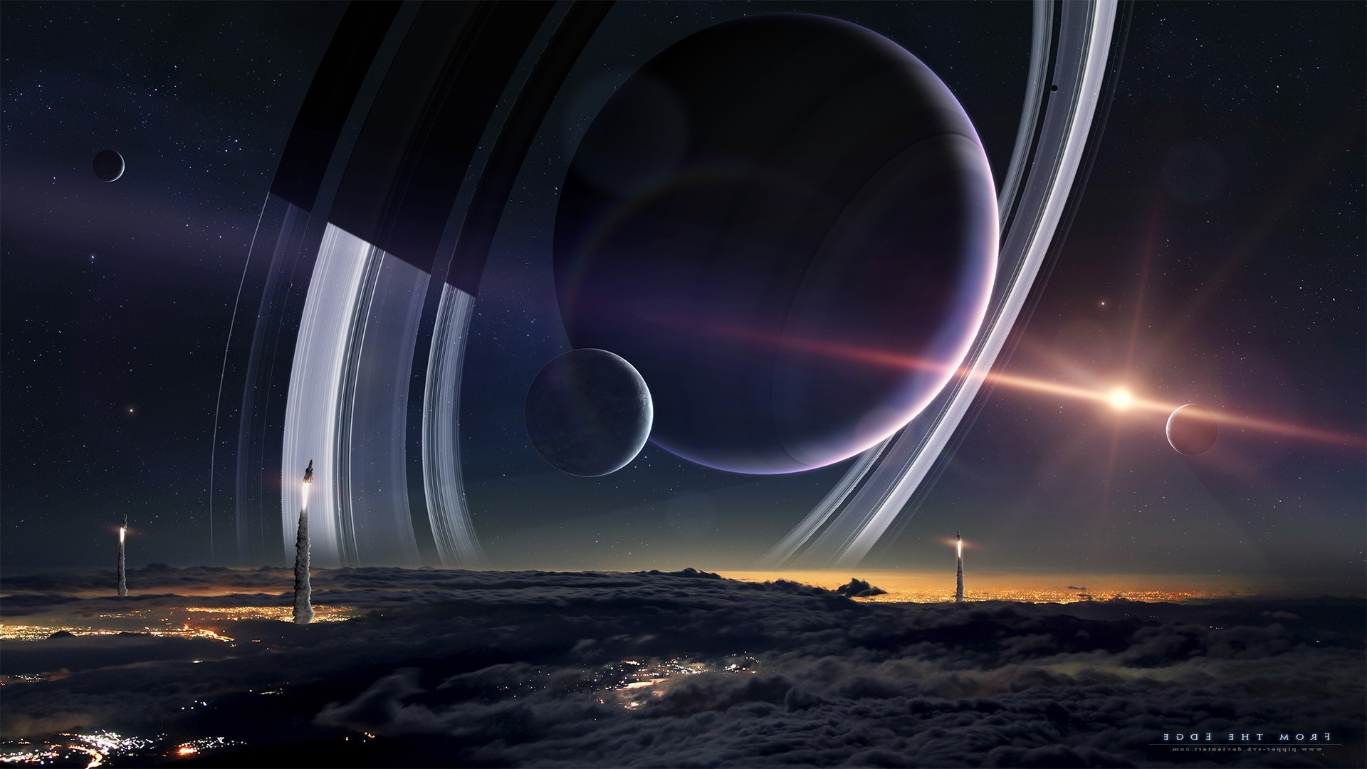 space, Planet, Spacescapes, Planetary Rings, Moon Wallpapers HD / Desktop  and Mobile Backgrounds