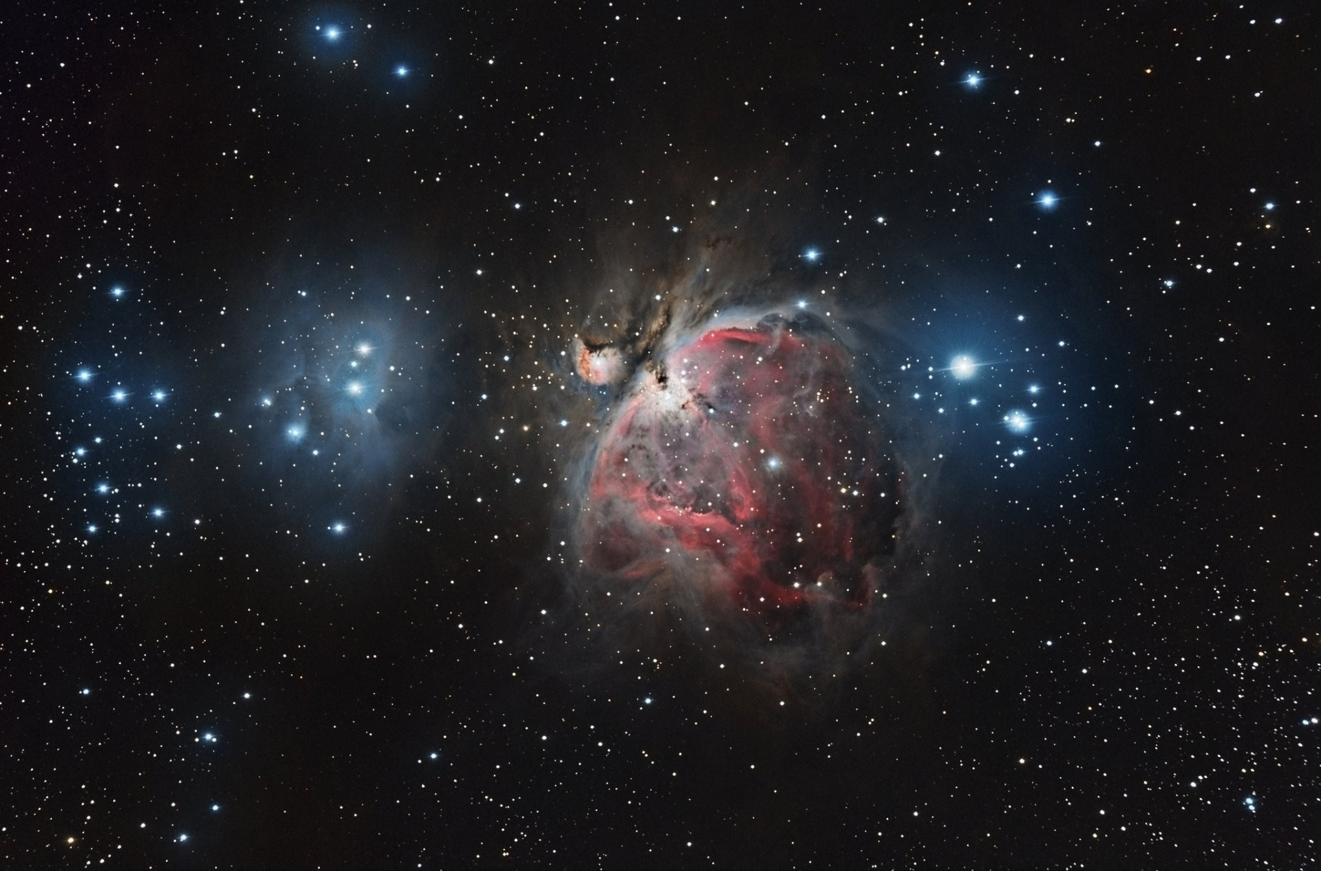 nebula orion constellation space creation space