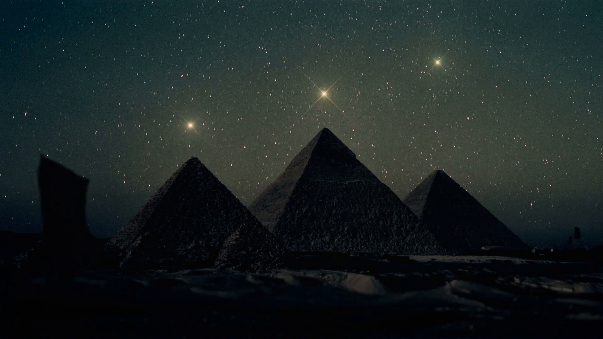 Orion Constellation Stars Aligned Above The Pyramids of Giza Motion  Background – VideoBlocks