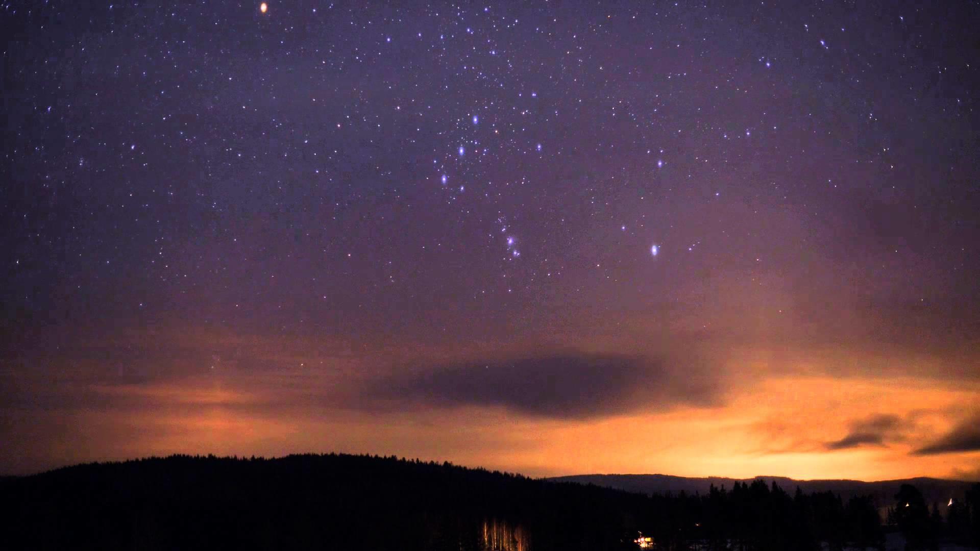 Nightsky timelapse of constellation Orion in Hälsingland, Sweden – YouTube
