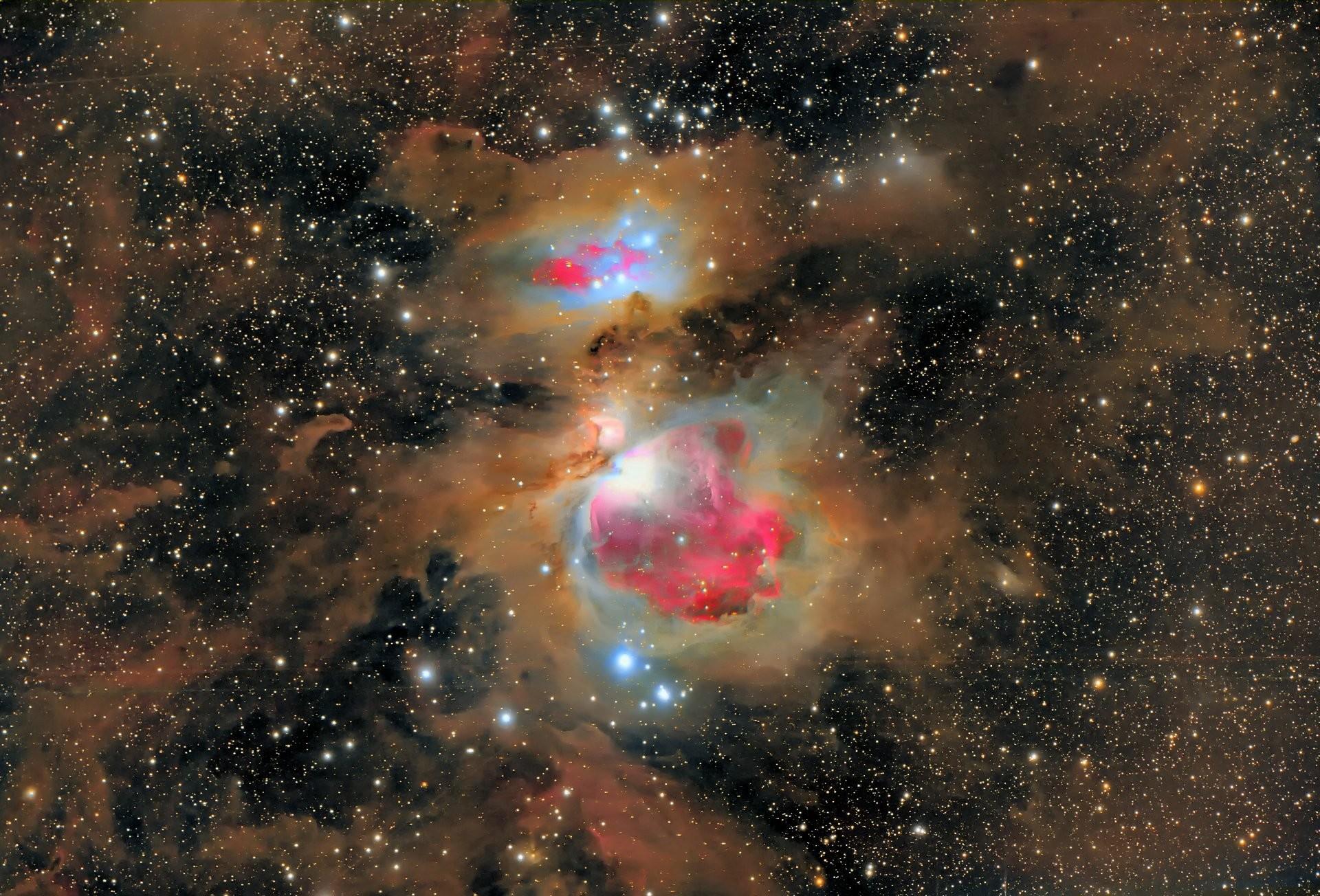 orion constellation nebula m42 m43 dust keystone
