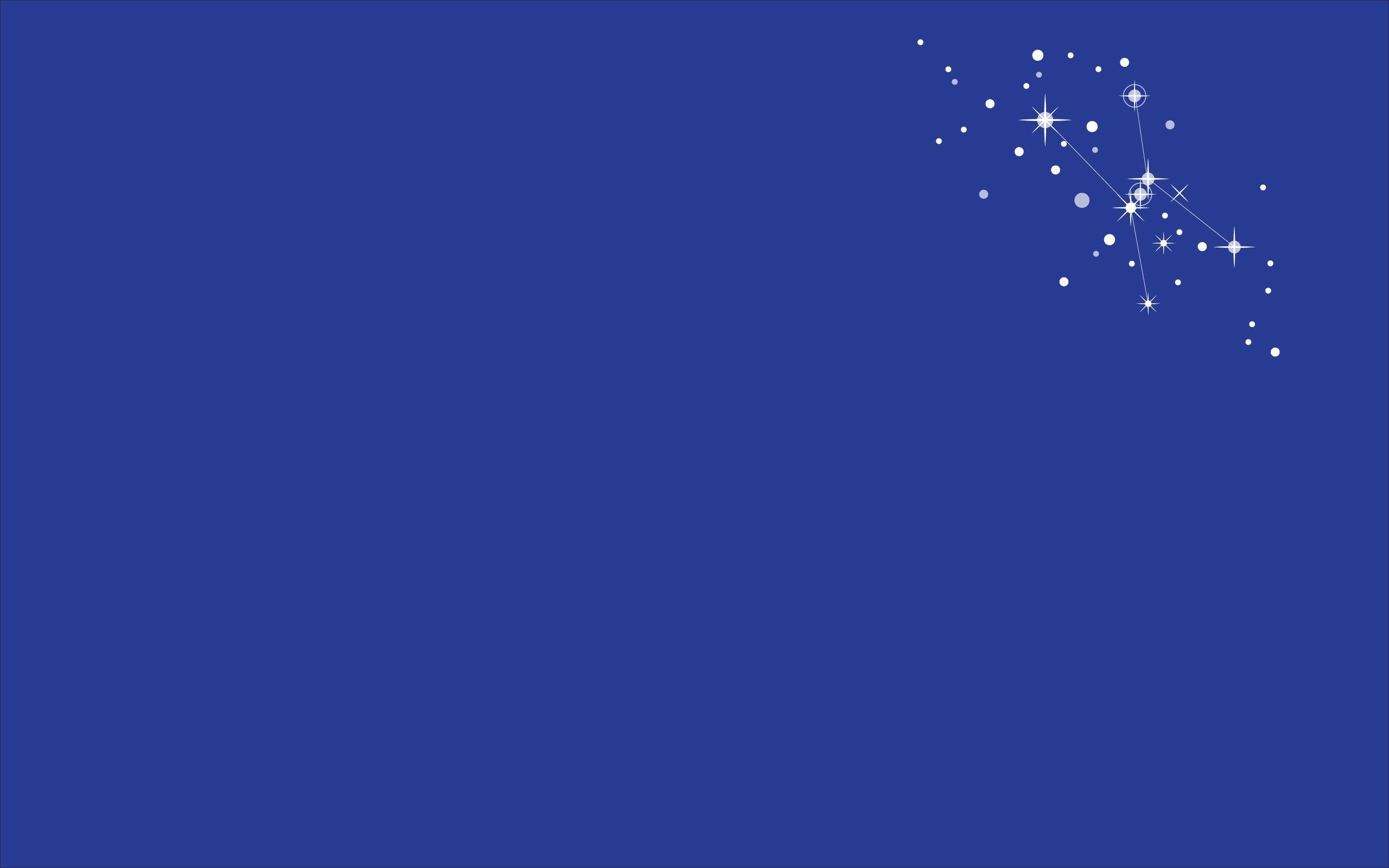 General minimalism digital art stars constellation Orion blue  background