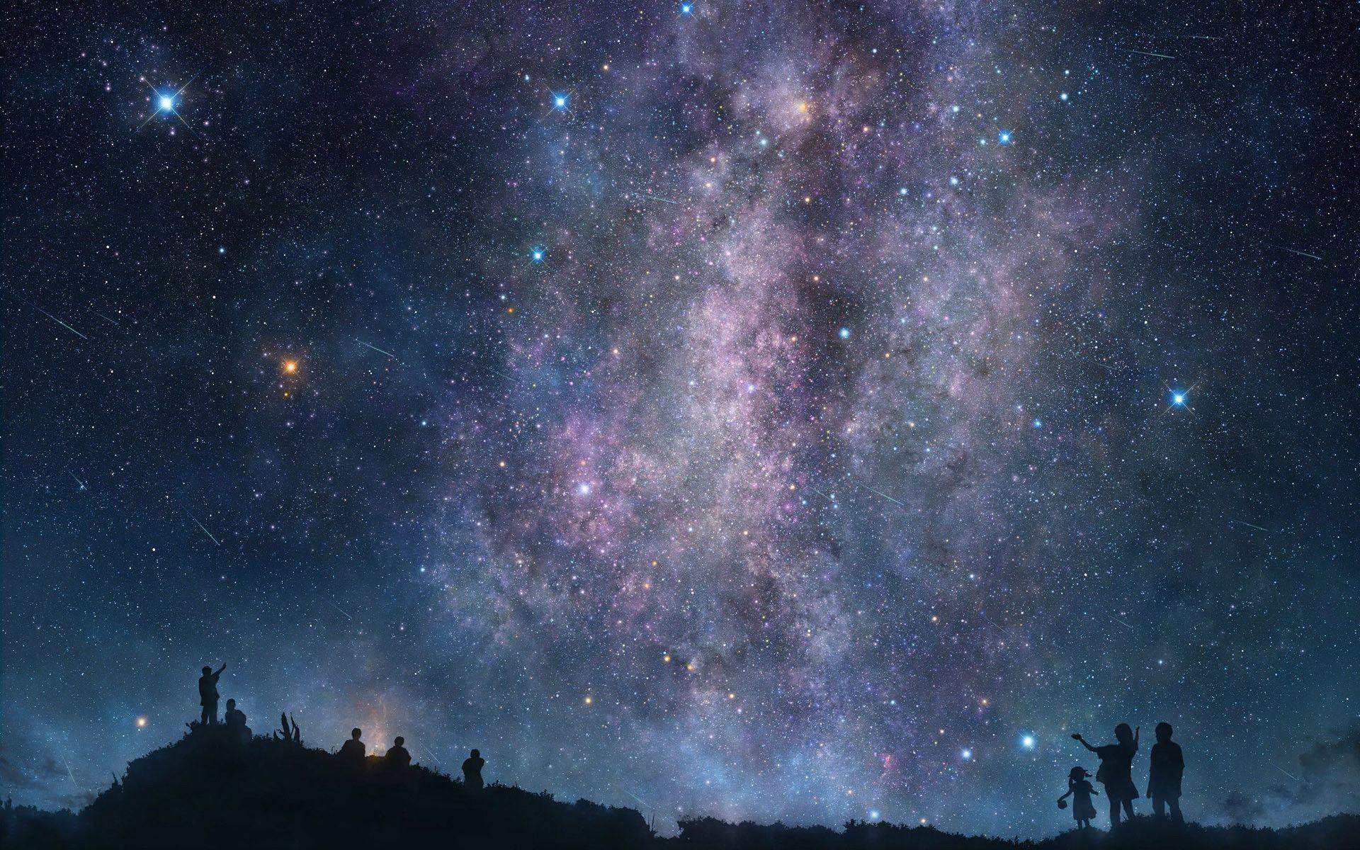 Night Sky Stars Wallpaper Mobile For Desktop px KB