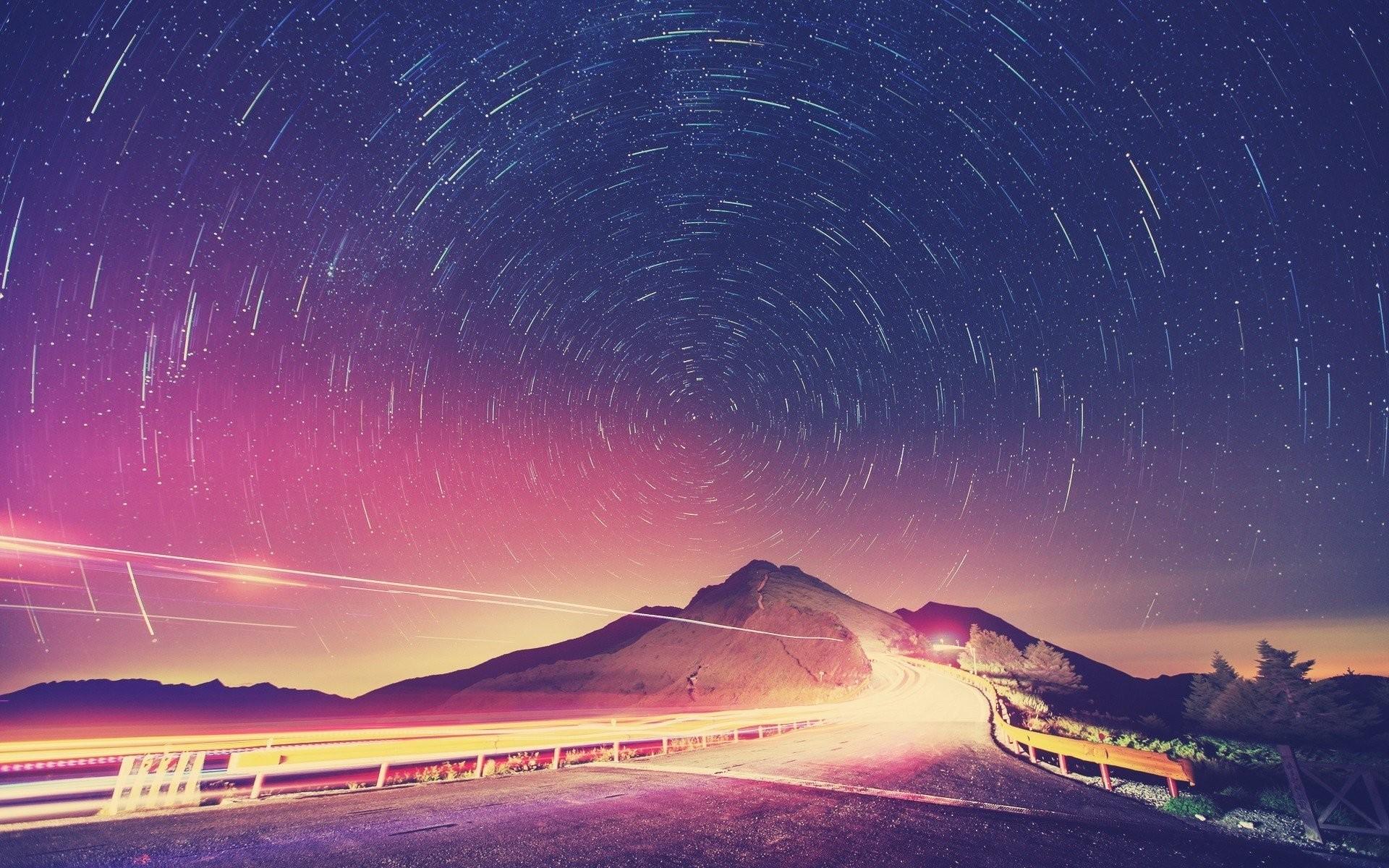 Circular Stars In The Night Sky …