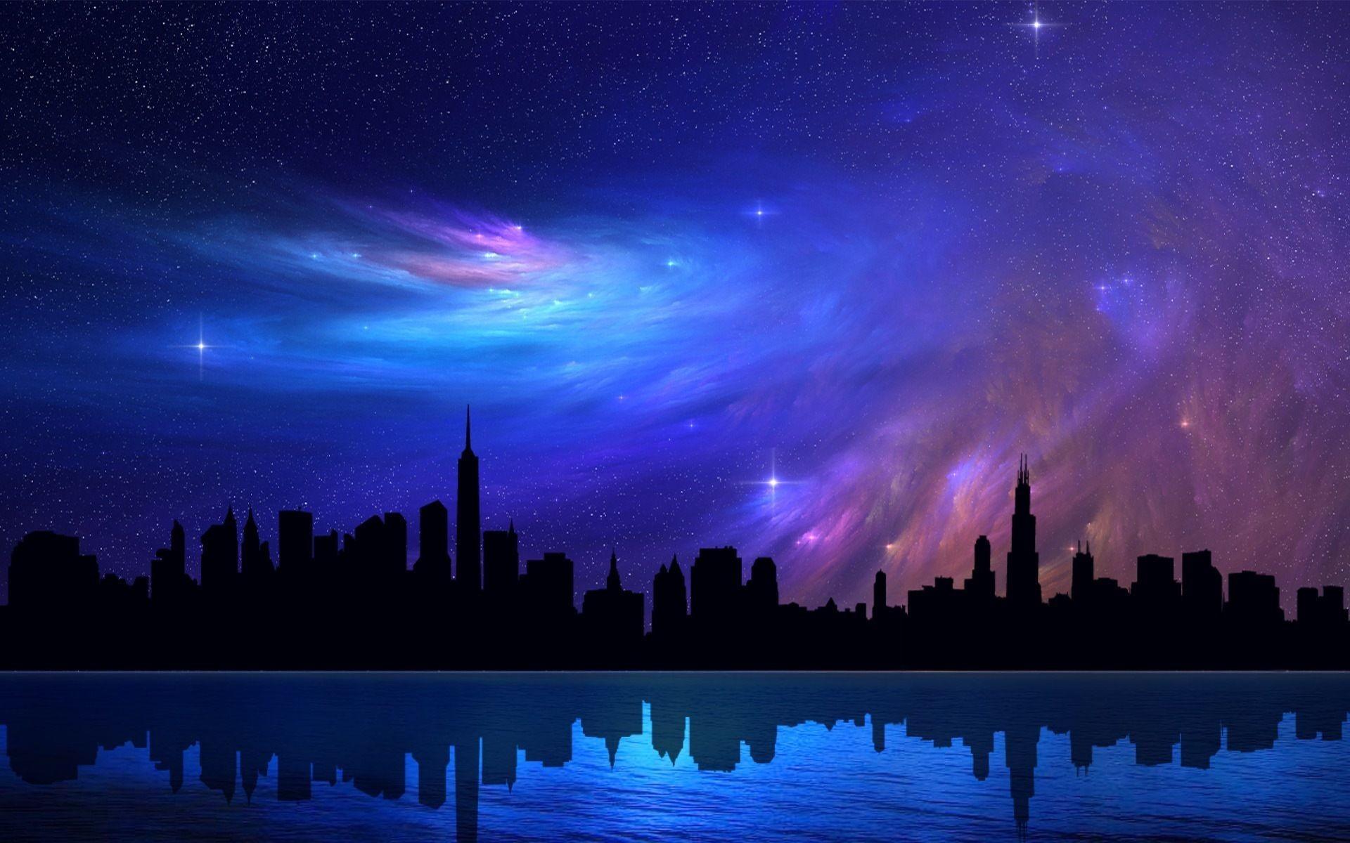 Beautiful Night Sky City