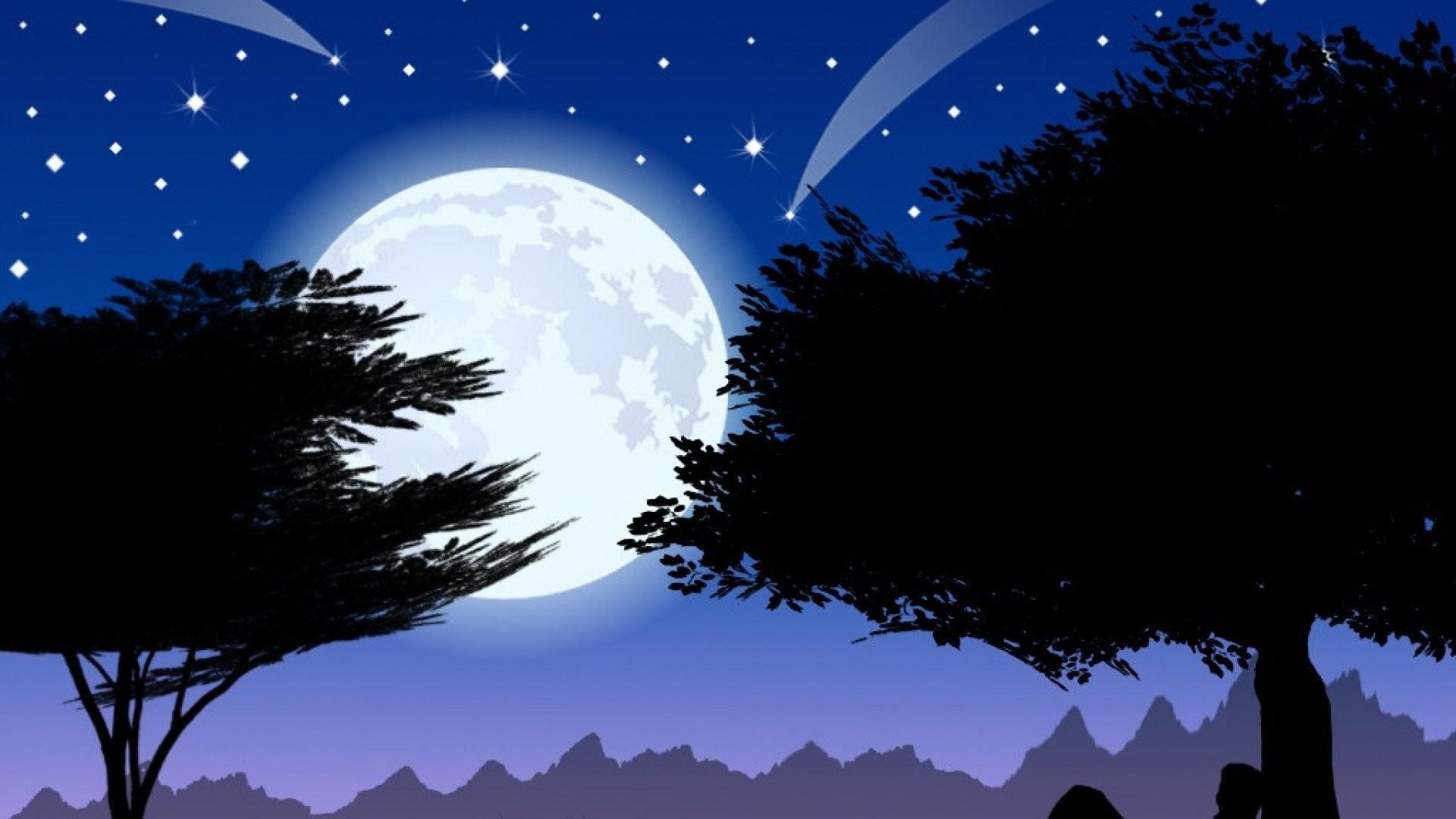 Night Stars Moon …