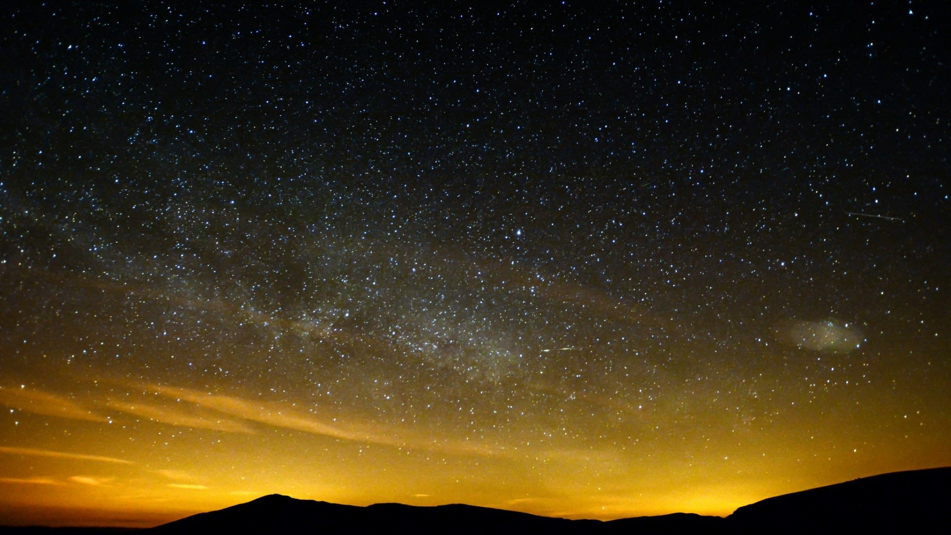 Yellow Stars Space Night