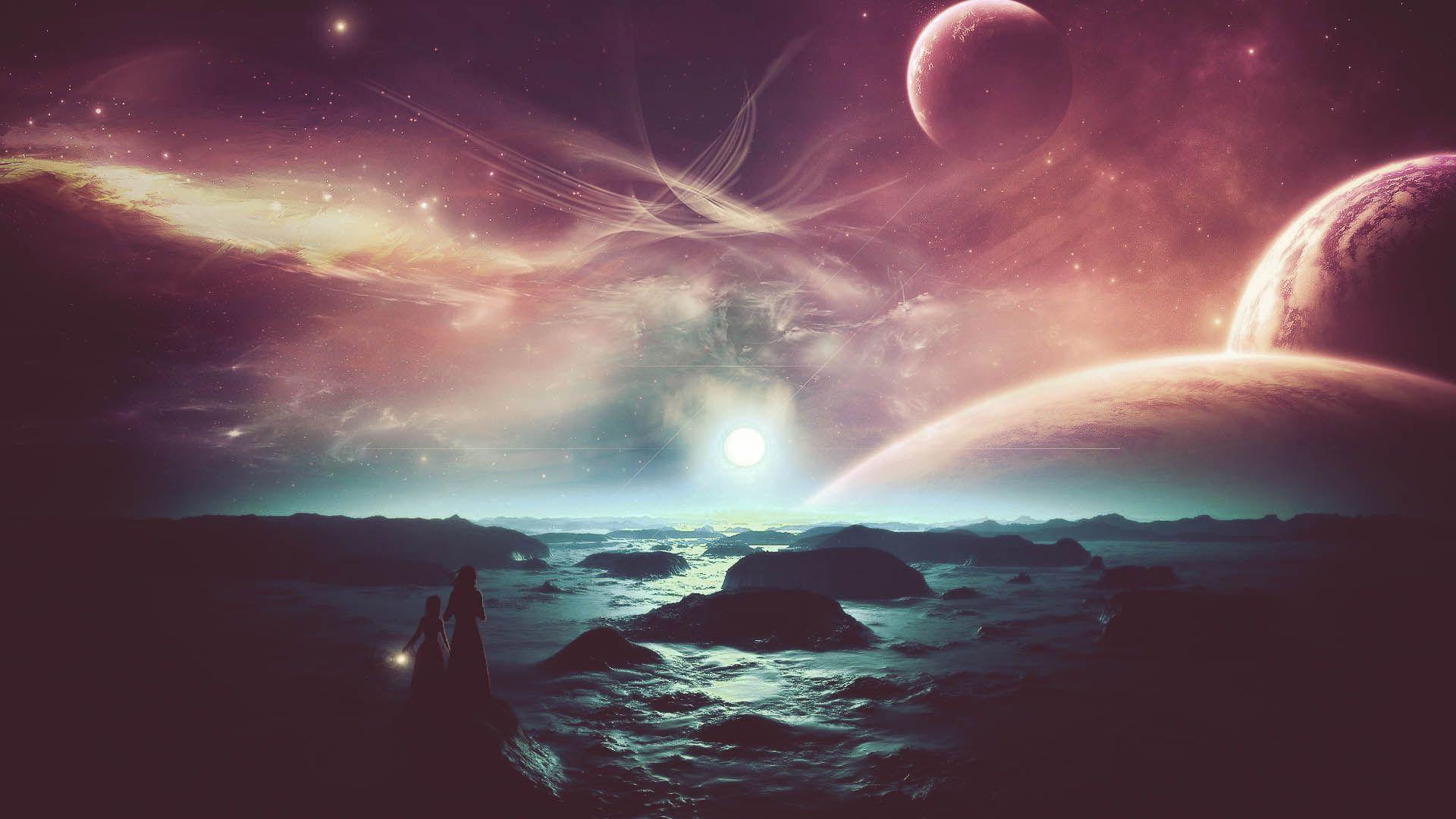 Alien landscape wallpaper thumb