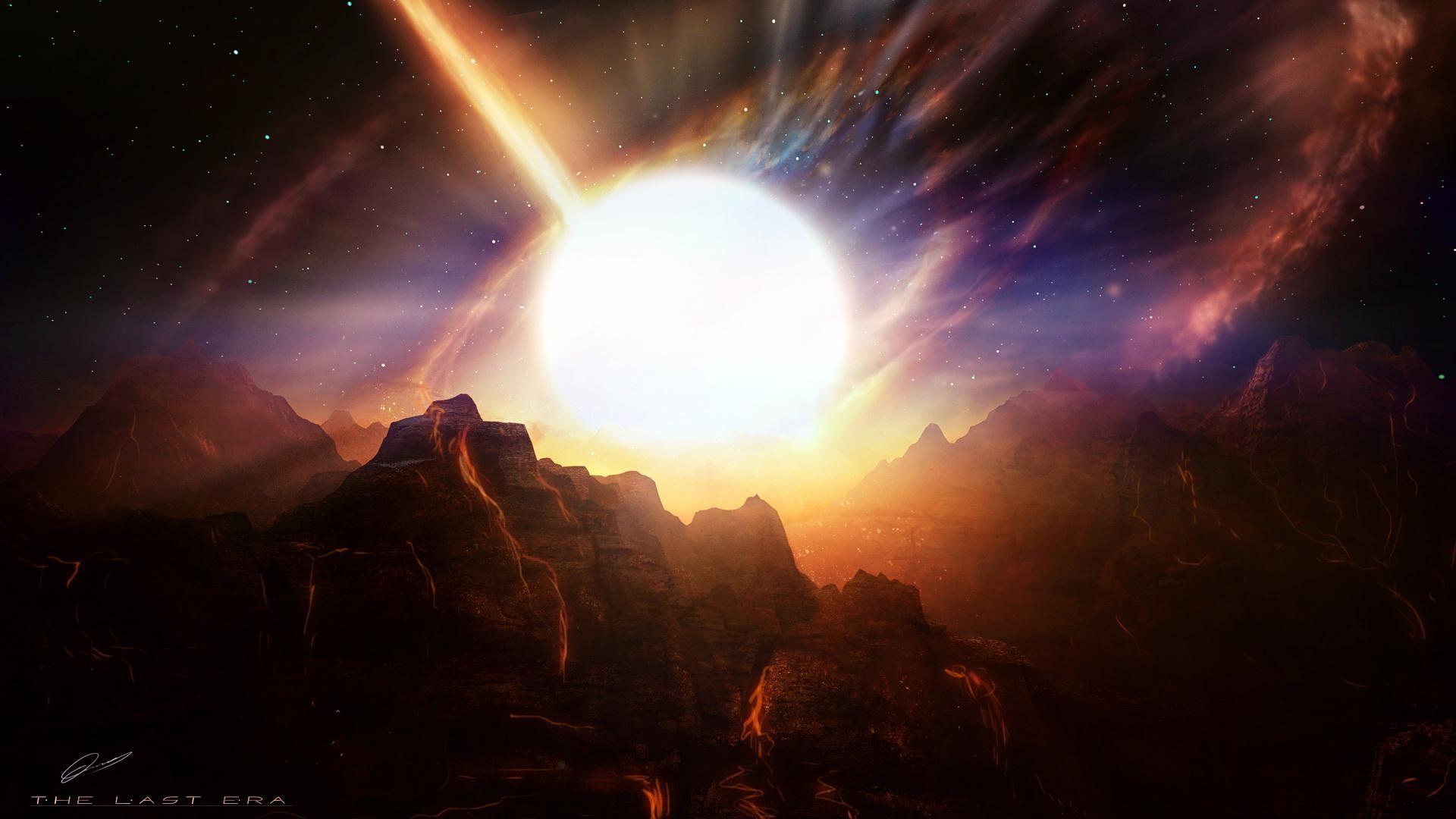 alien Landscapes | Alien Landscape Planet Stars Starlight Mountains Art For  Mobile