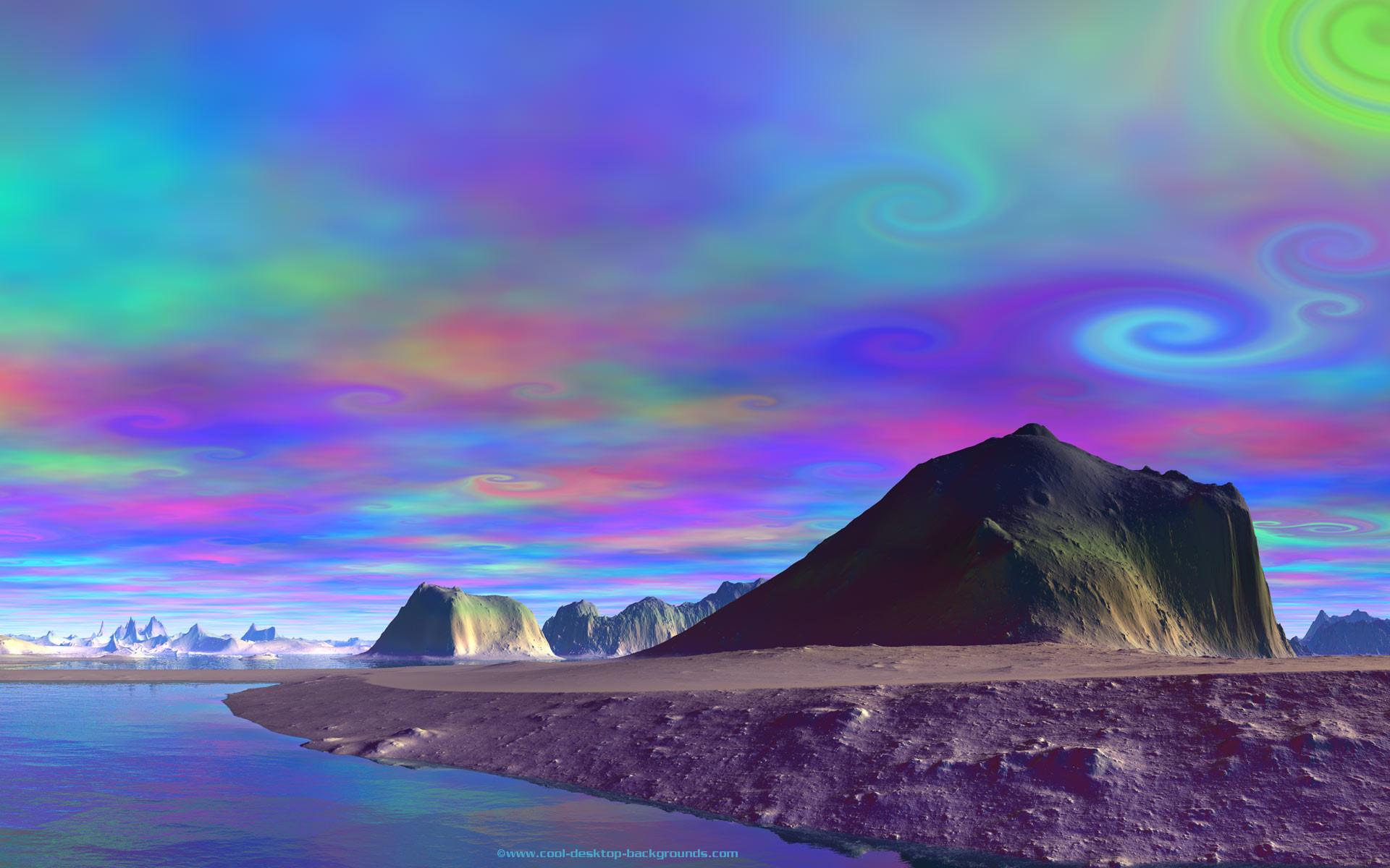 Alien Planets | … skies of a rocky alien planet. Free desktop background
