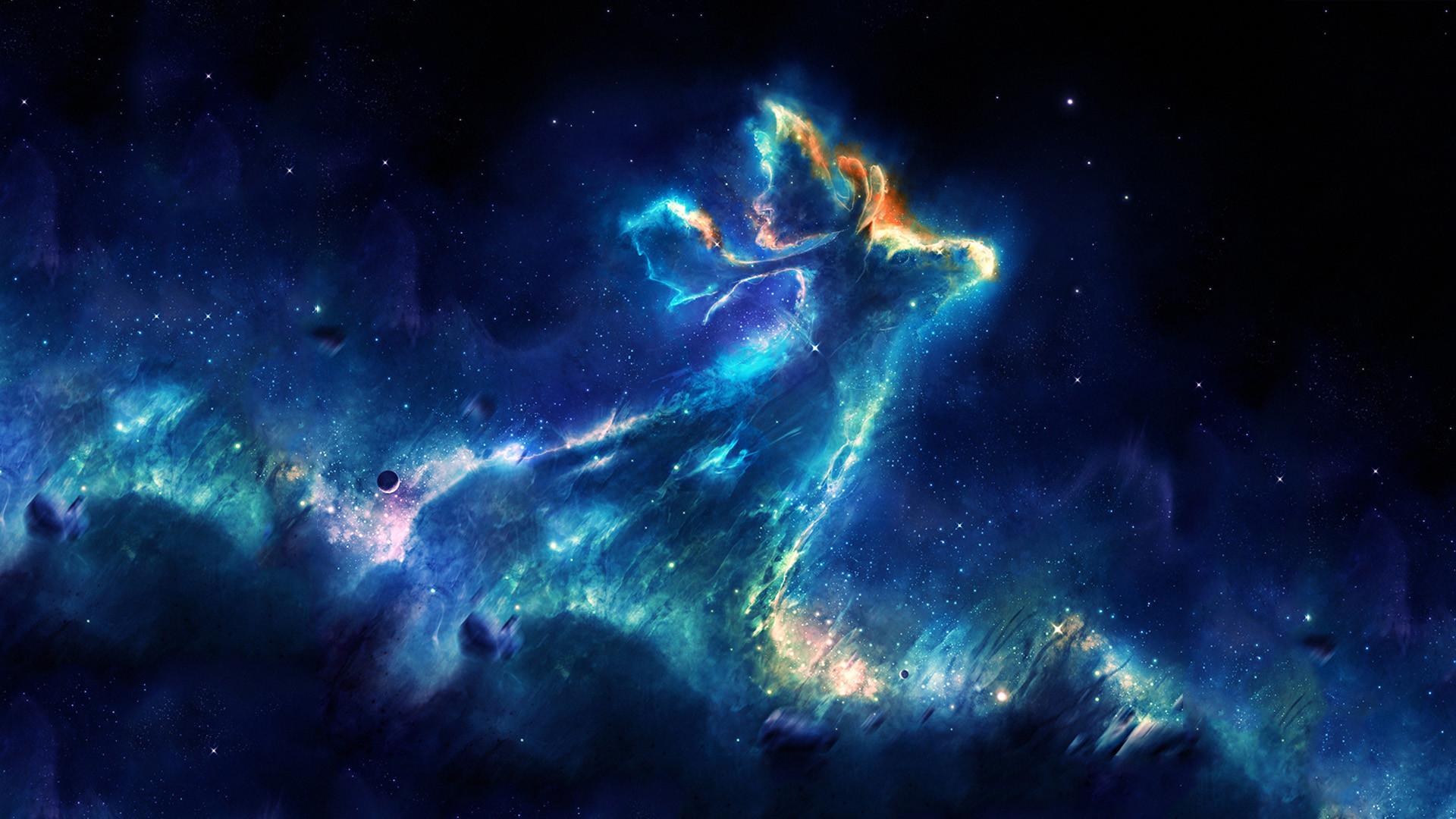General space stars nebula space art digital art