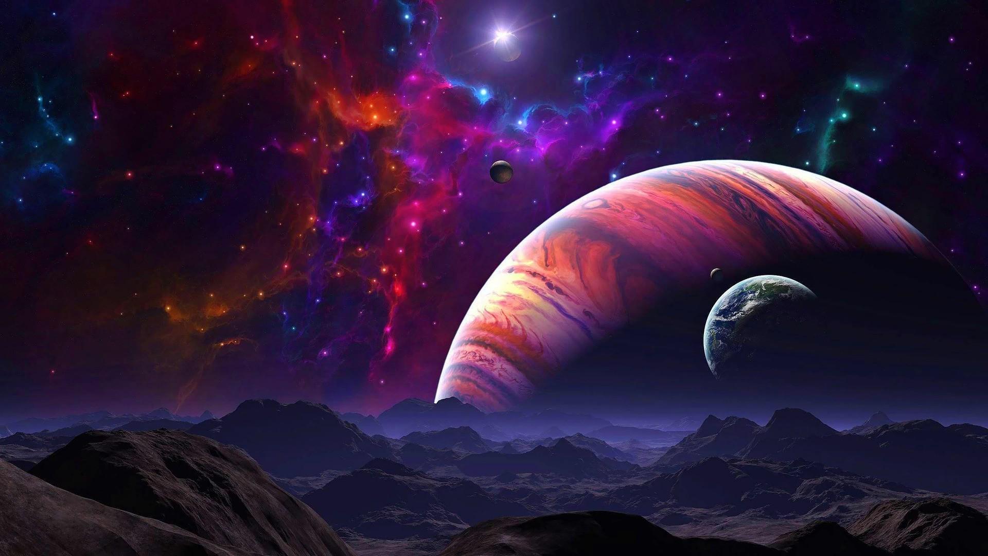 artwork, Fantasy Art, Concept Art, Sky, Galaxy, Space, Digital Art  Wallpapers HD / Desktop and Mobile Backgrounds