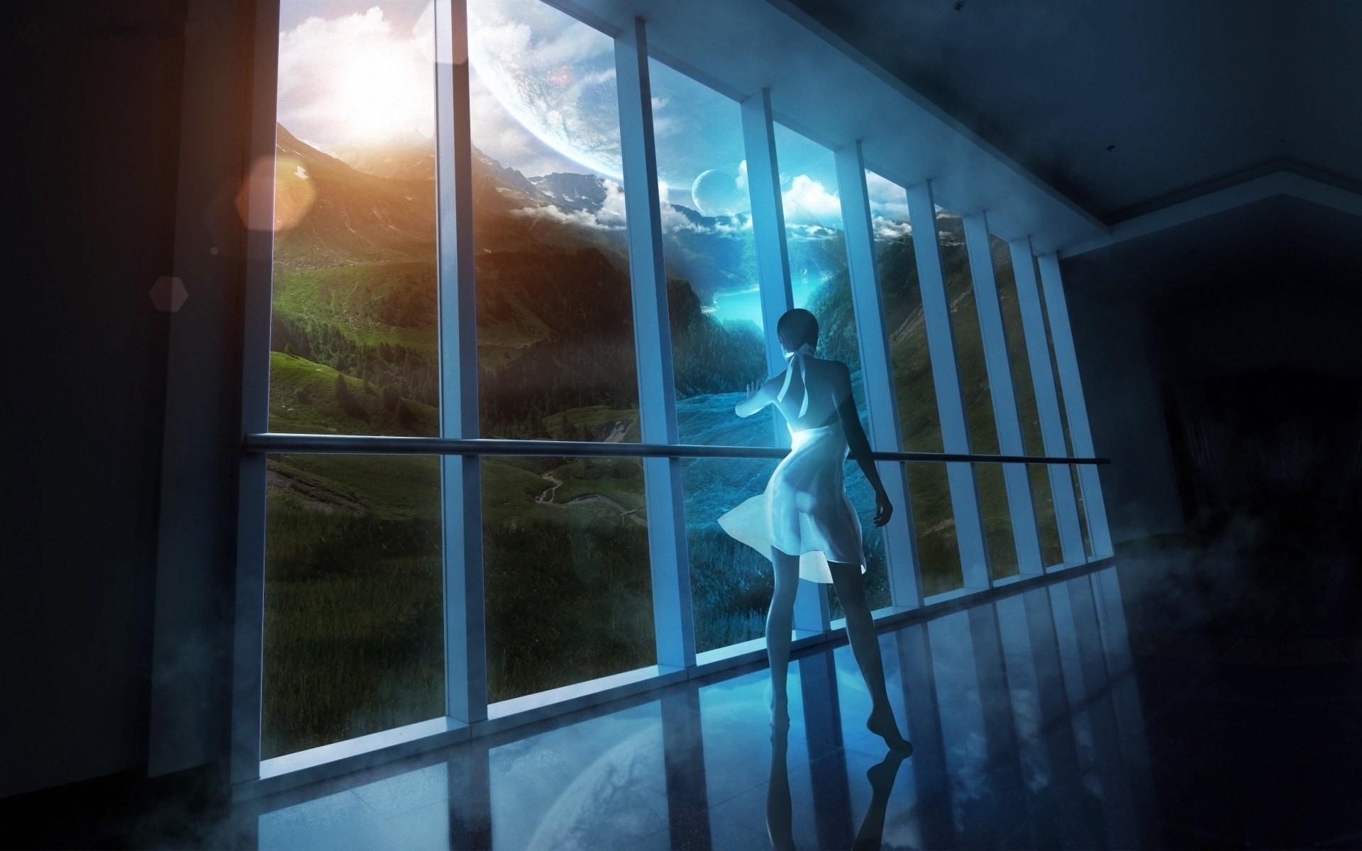 Women Outer Space Fantasy Art Artwork Wallpaper At 3d Wallpapers