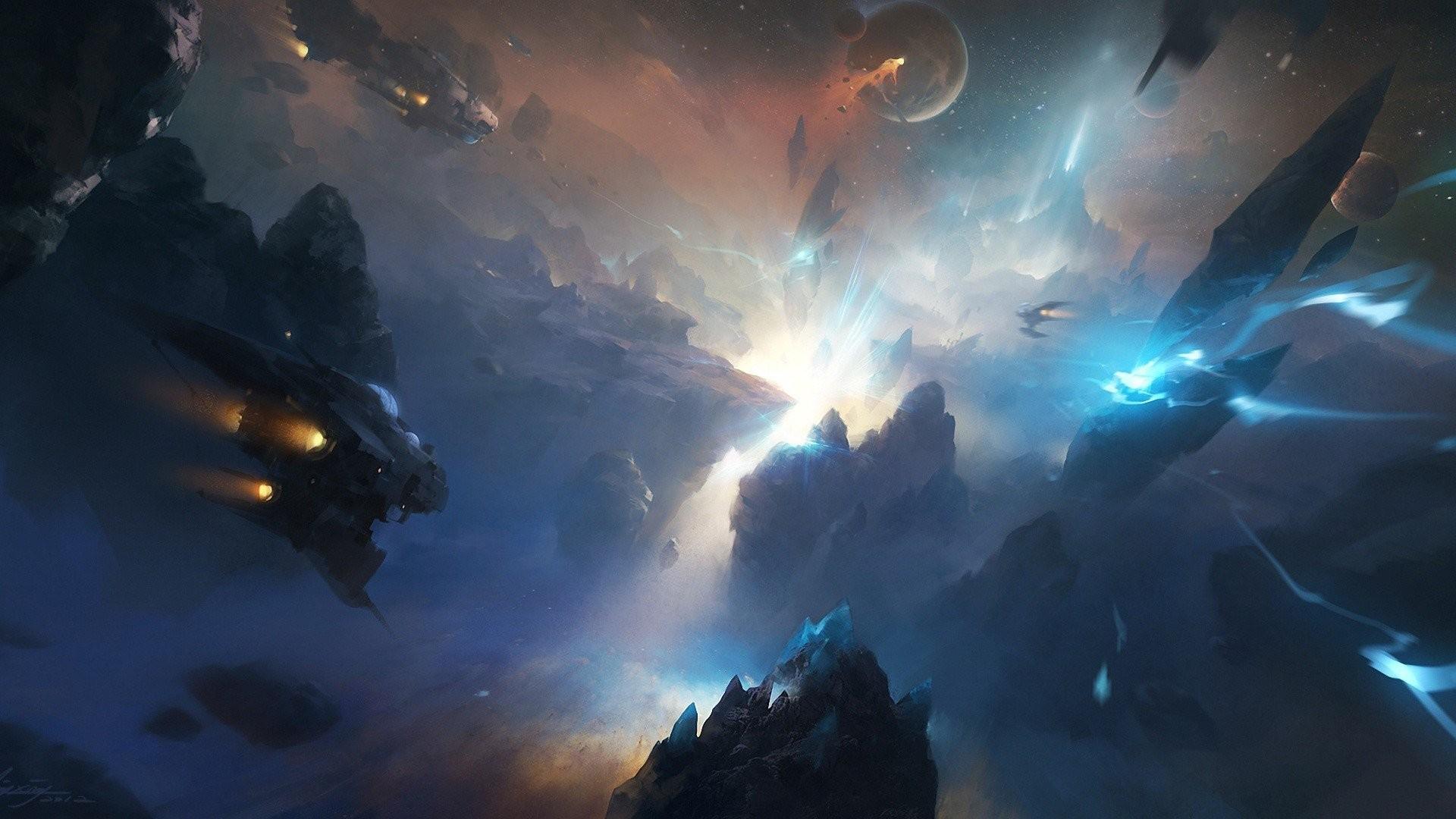 Spaceships Science Fiction Artwork Fantasy Art Futuristic Space Digital