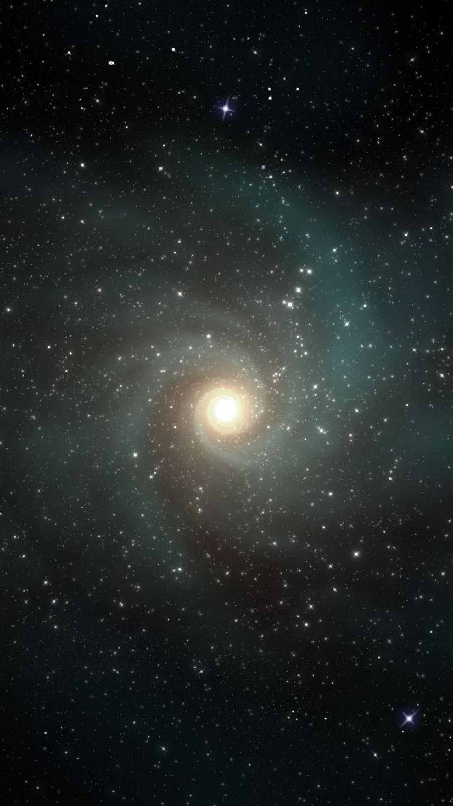 Preview wallpaper stars, galaxies, rotation, universe 1440×2560