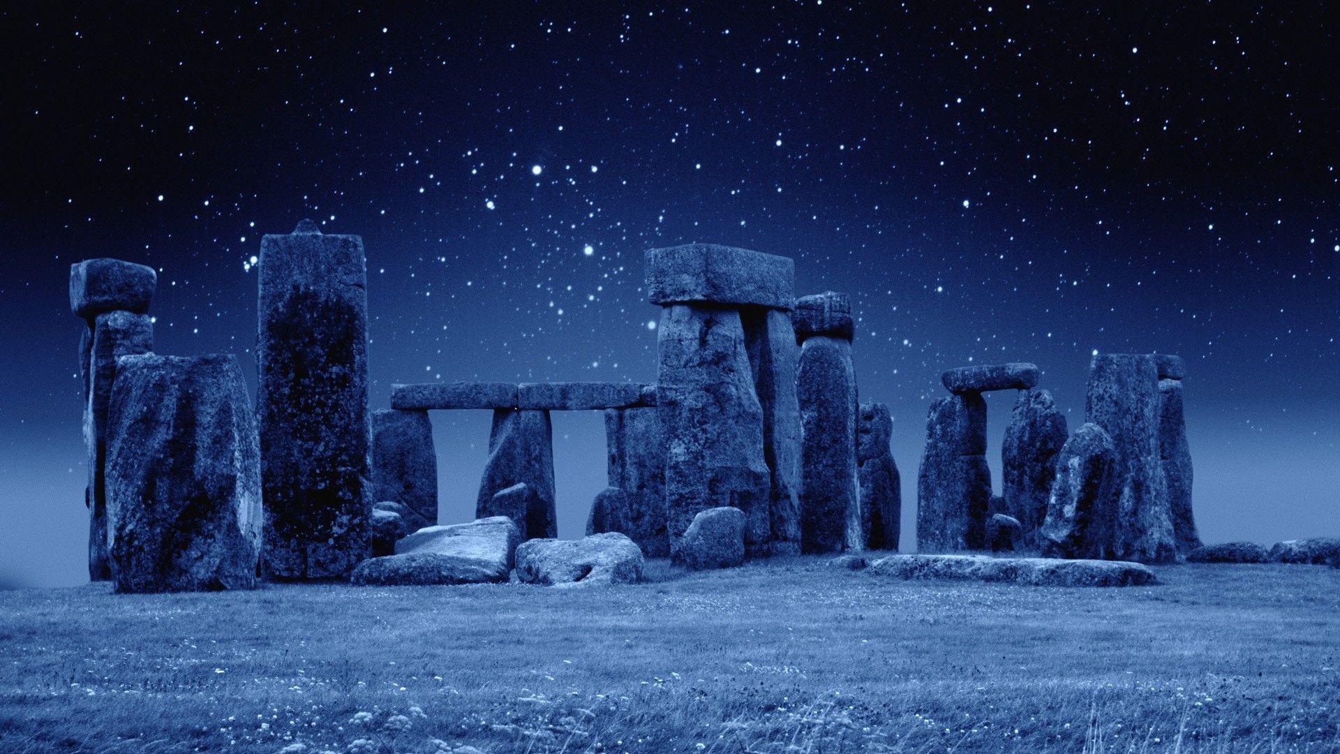 Stonehenge England Stars Stonehenge England Stars HD Wallpaper