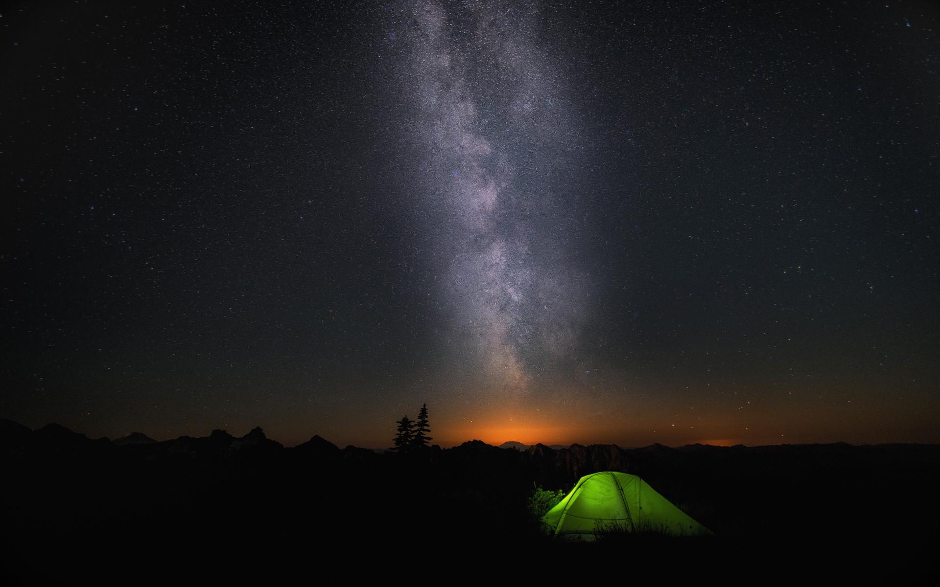 Night Camp Sky Stars