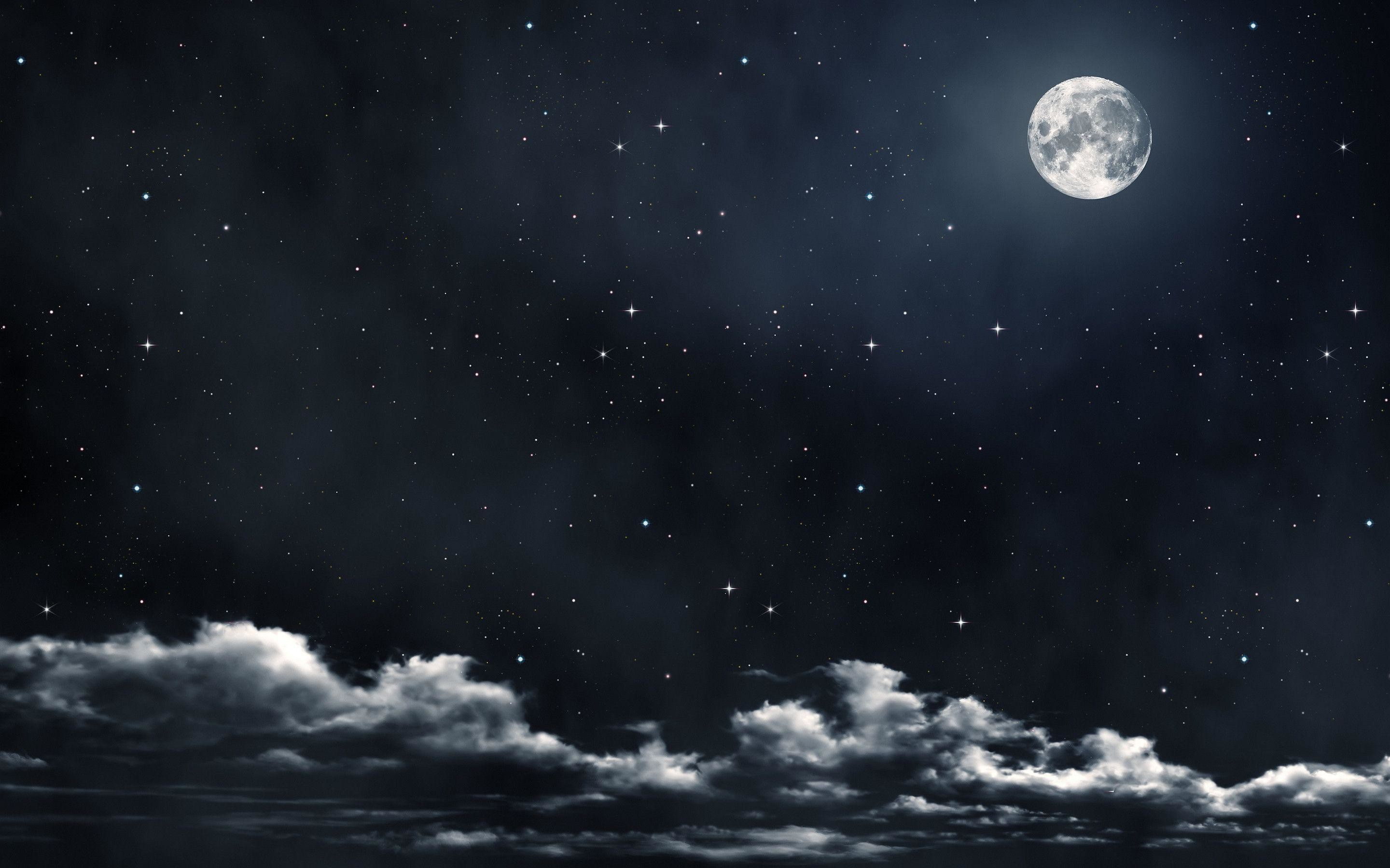 Moon And Stars Wallpaper Photos 47926 HD Pictures   Top Background .