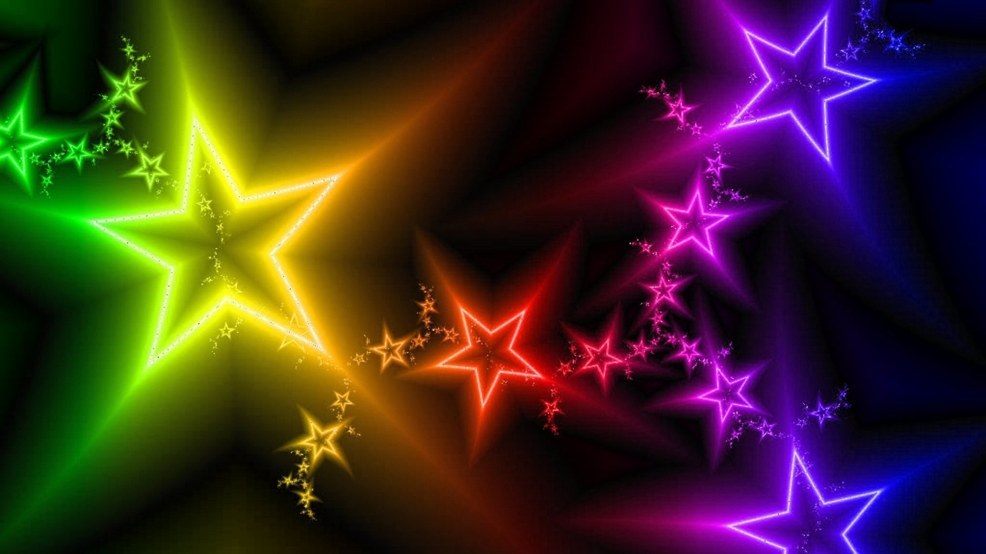 Wallpapers For > Neon Star Wallpaper