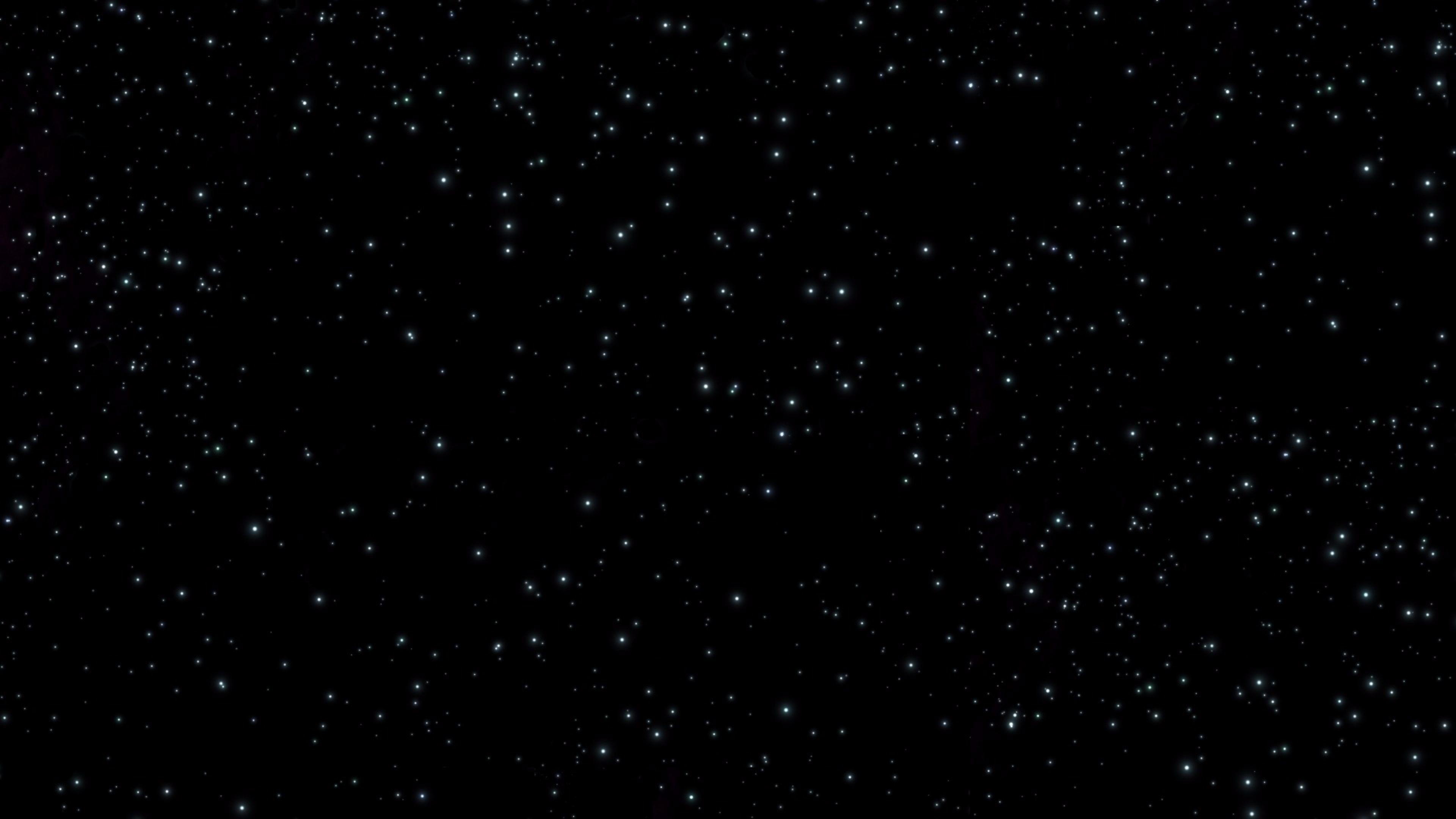 Whte Lights in Space 4K Wallpaper