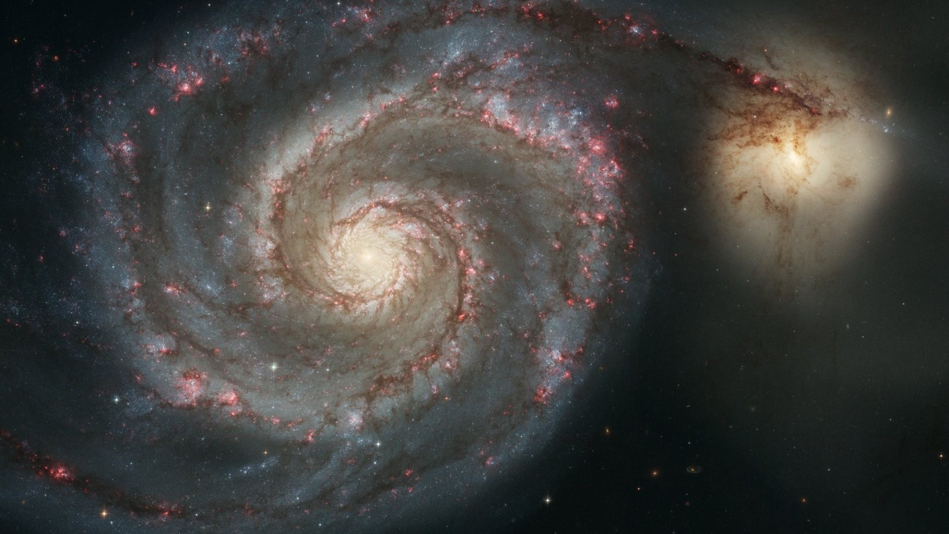 Real Tag – Space Whirlpool Galaxy Hubble Real Nature Wallpaper Tab for HD  16:9