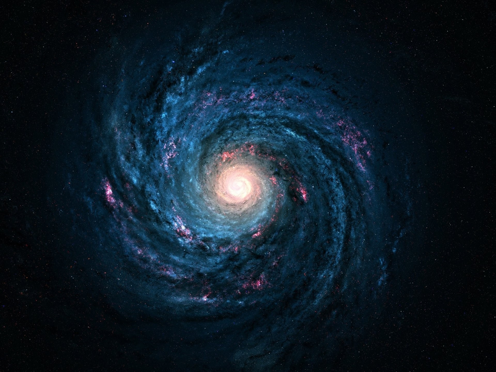 solemnity milky way galaxy stars eternity beautiful space wallpapers lights  blue & red deep space cosmos