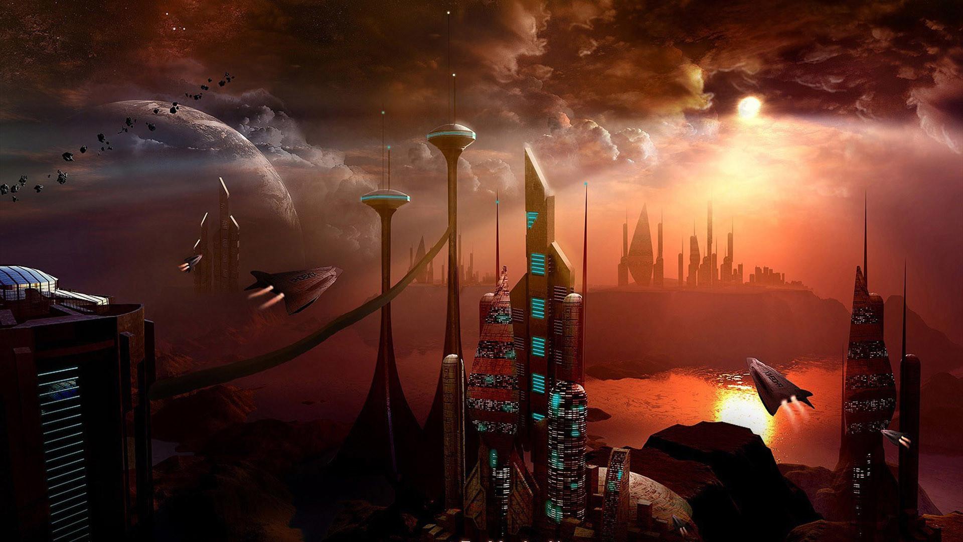 Beautiful Fantasy Future Space Desktop Wallpaper 2846 #1305