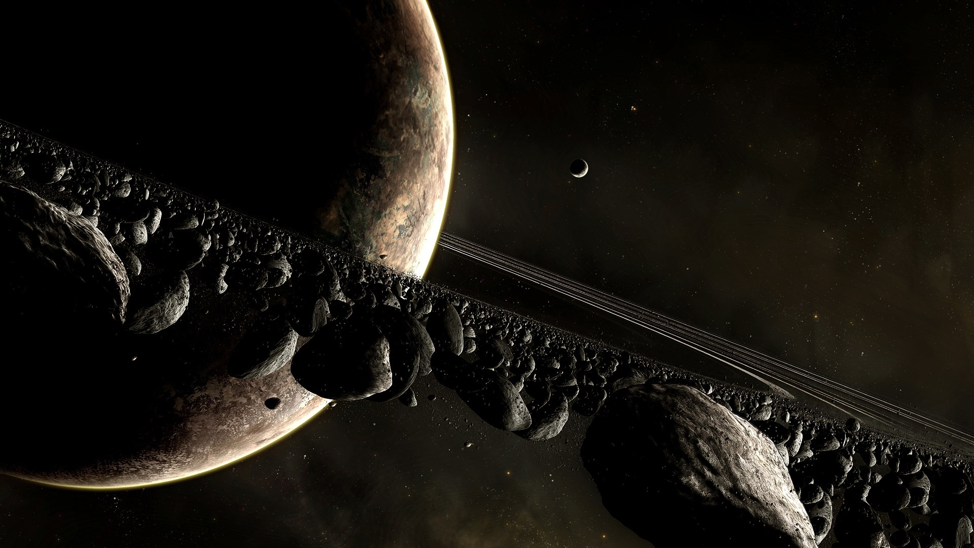 Preview wallpaper universe planet, planet, disaster, space 1920×1080
