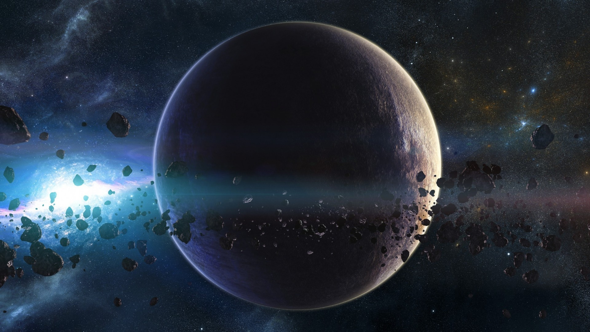 … Background Full HD 1080p. Wallpaper space, planets,  asteroids, stars, belt, galaxy