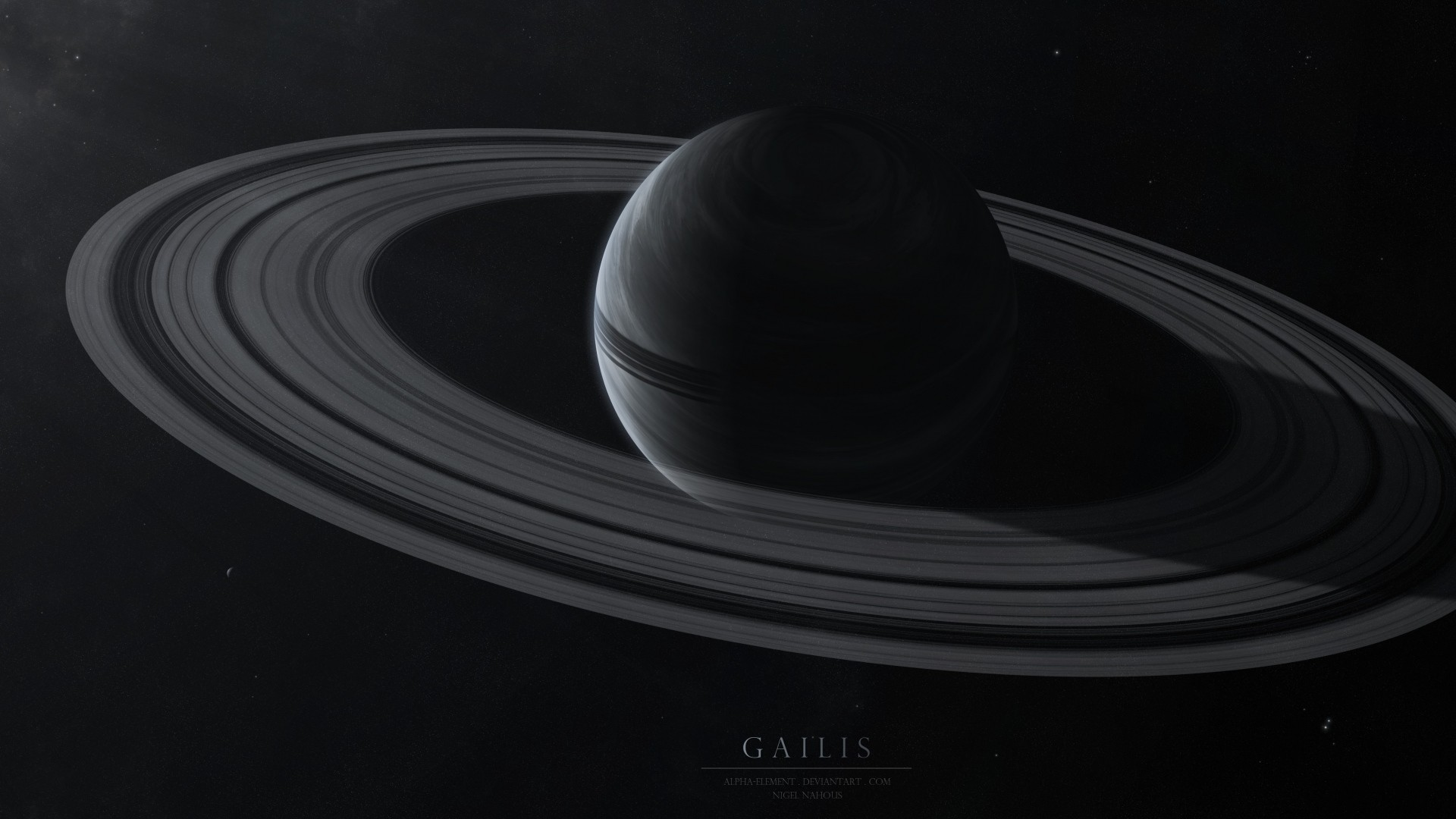 … Background Full HD 1080p. Wallpaper gailis, planet, rings,  stars, space