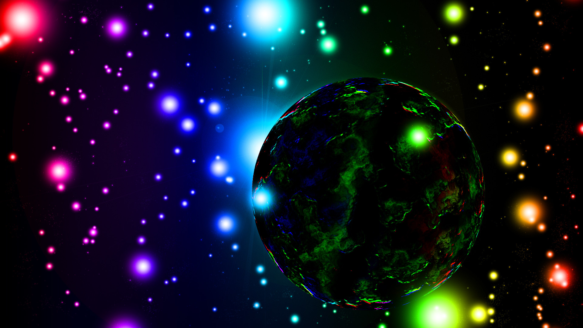 Colorful Space Background Stock Footage Video Shutterstock 1920×1080