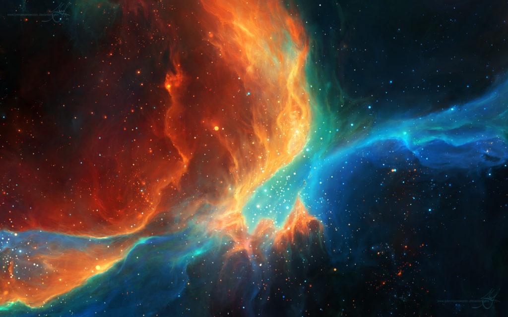 Colorful Color Splash Galaxy Nebulae Space Stars