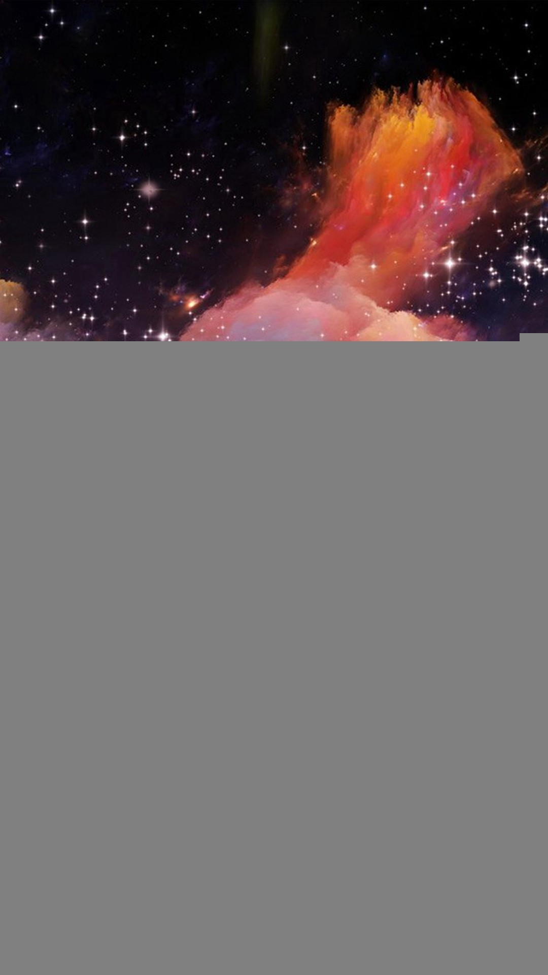 Space Rainbow Colorful Star Art Illustration iPhone 8 wallpaper